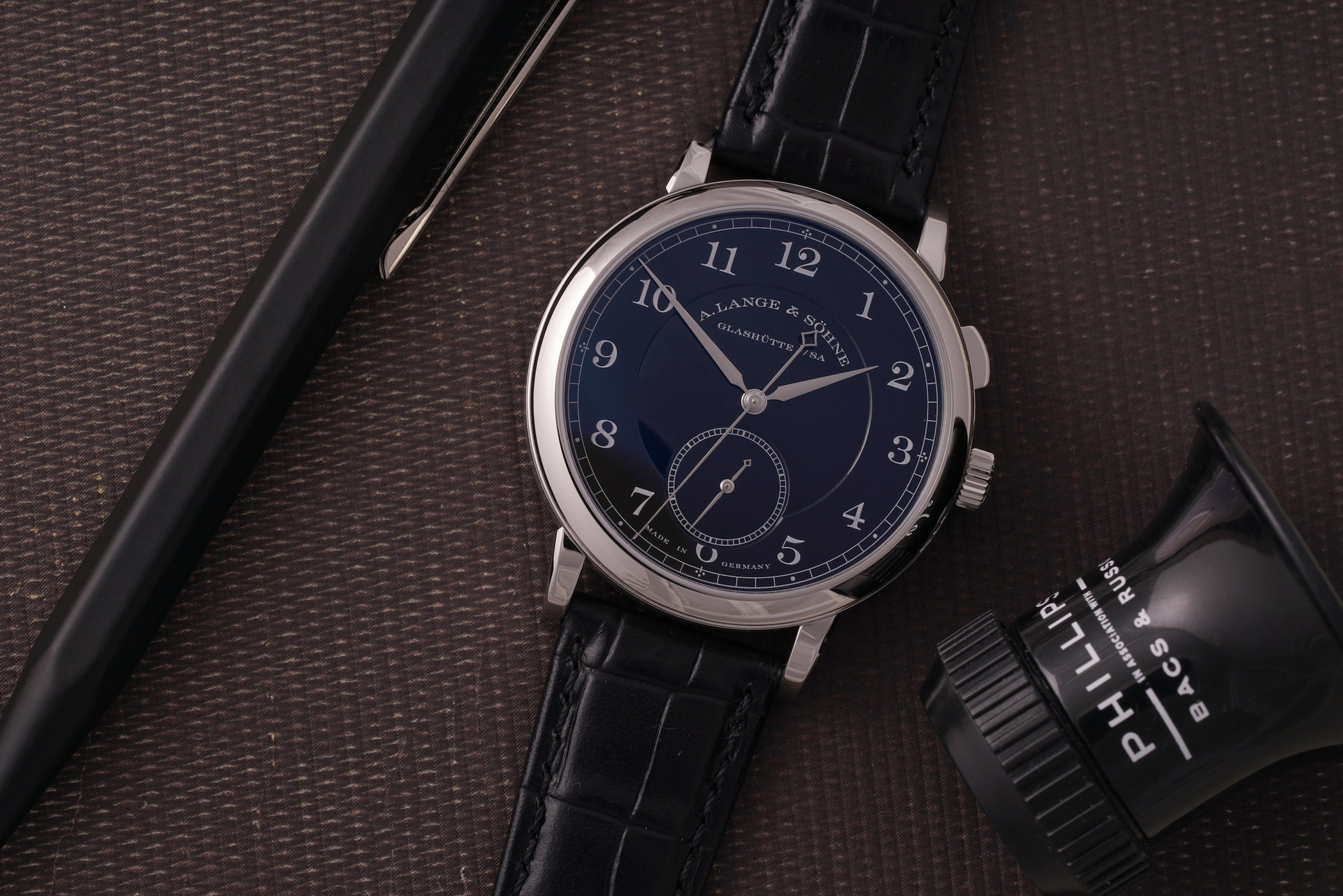 A. Lange Sohne 1815 Homage to Walter Lange Unique Piece Steel Auction Phillips Watches