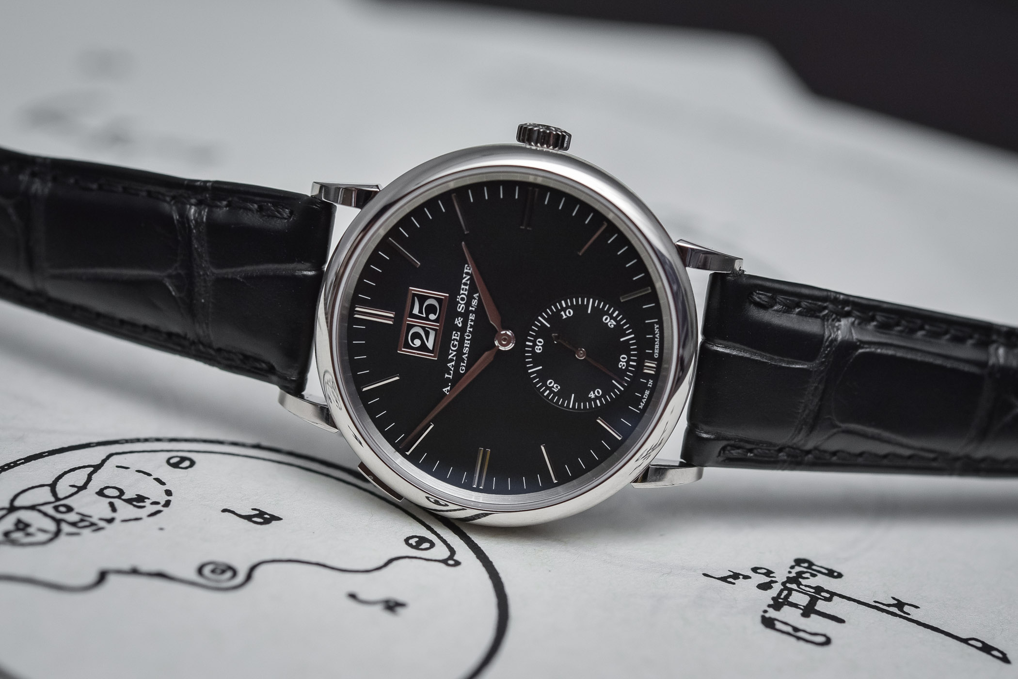 A. Lange Sohne Saxonia Outsize Date - SIHH 2018