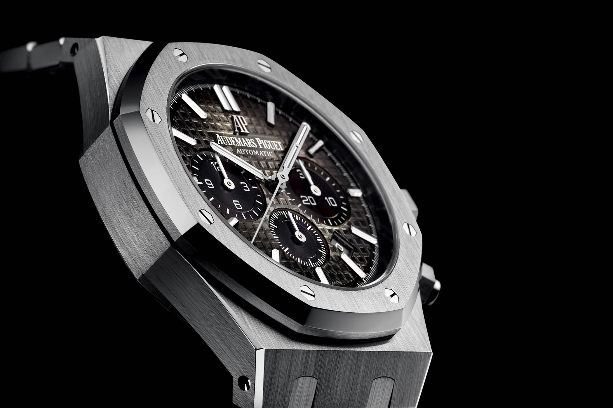 Audemars Piguet Royal Oak Chronograph Smoked Dial Platinum 26332PT - SIHH 2018