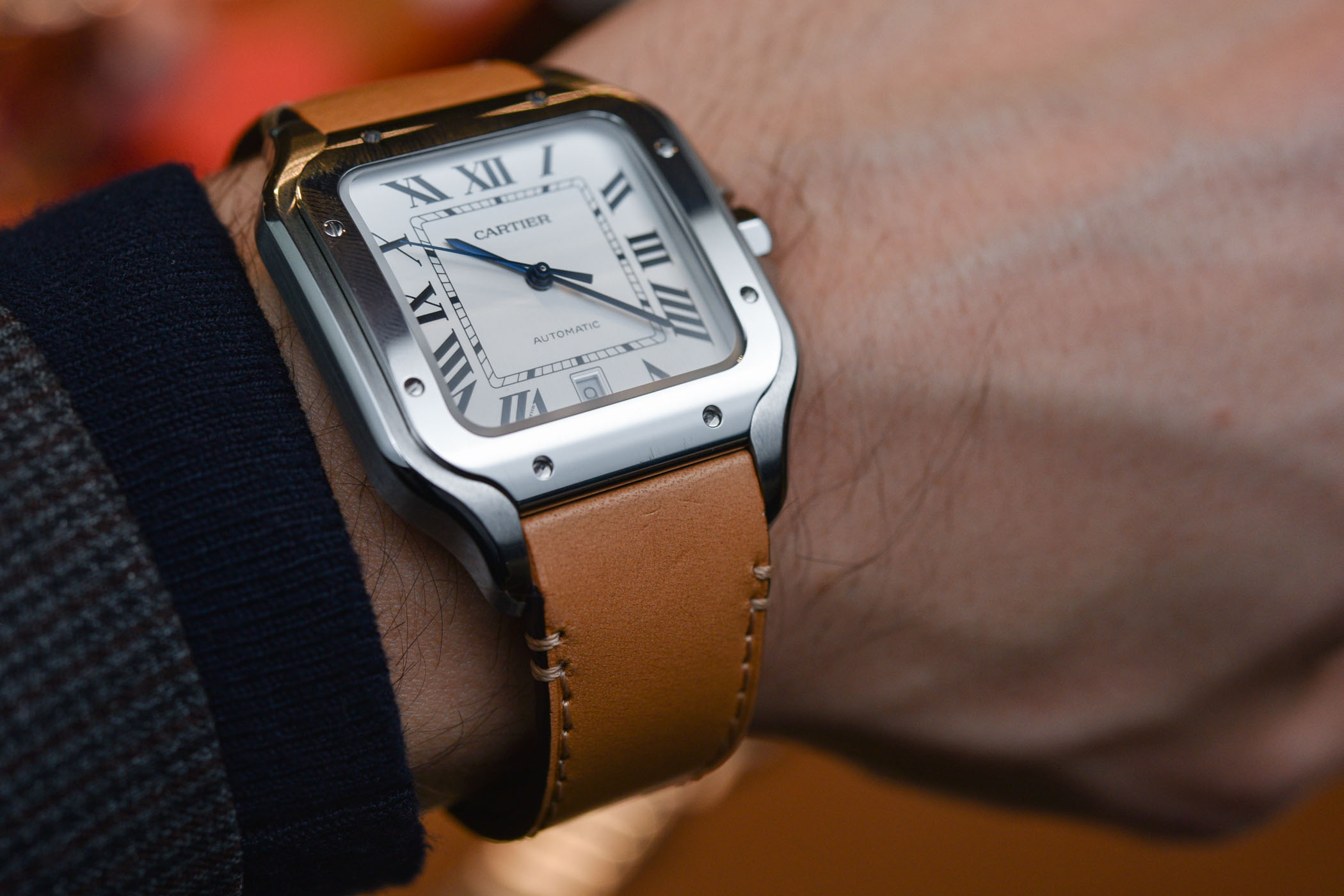 26d8910674ba Hands-On with The 2018 Cartier Santos Large Size (Specs   Price)
