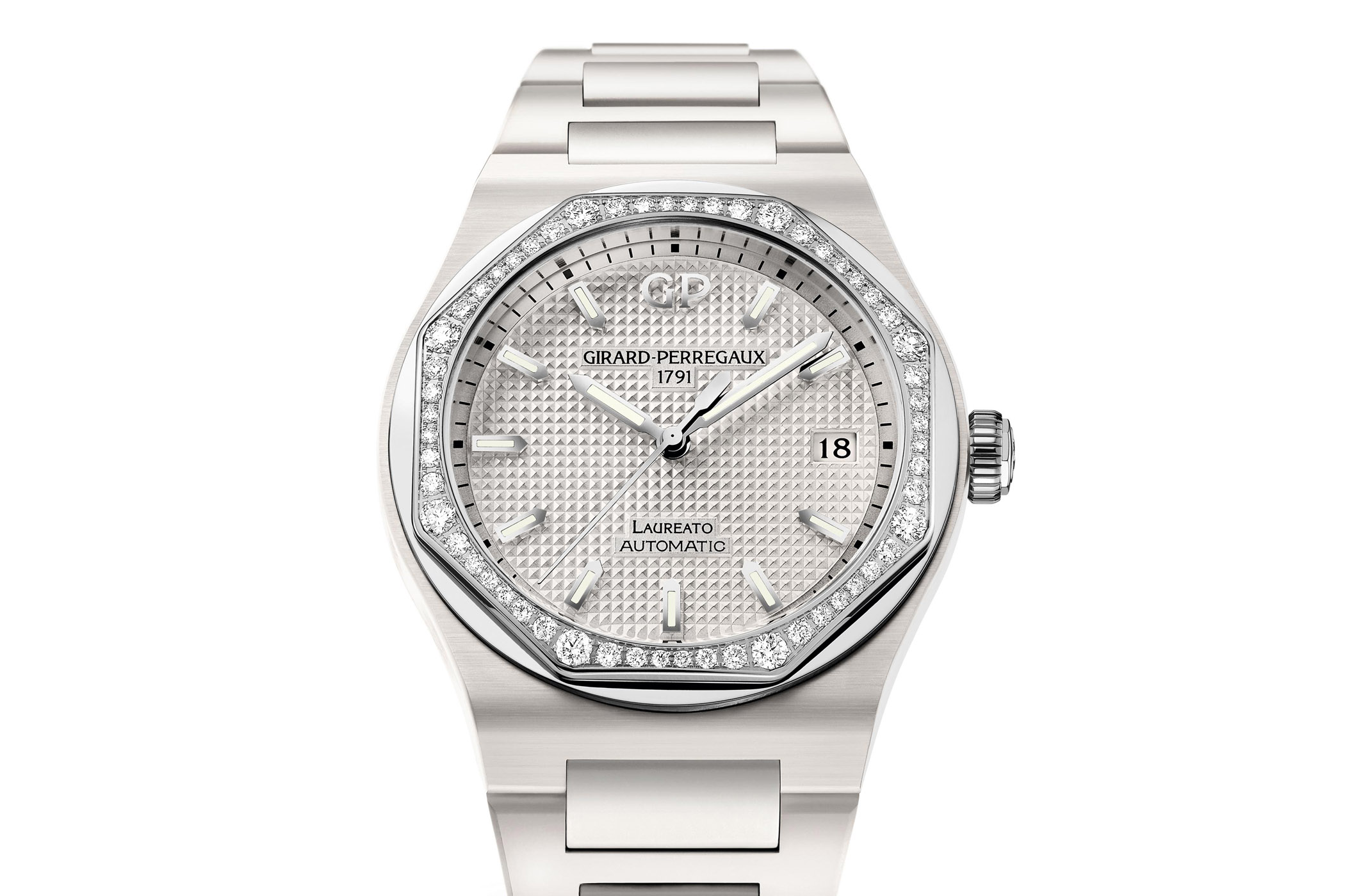Girard Perregaux Laureato 38mm White Ceramic - SIHH 2018
