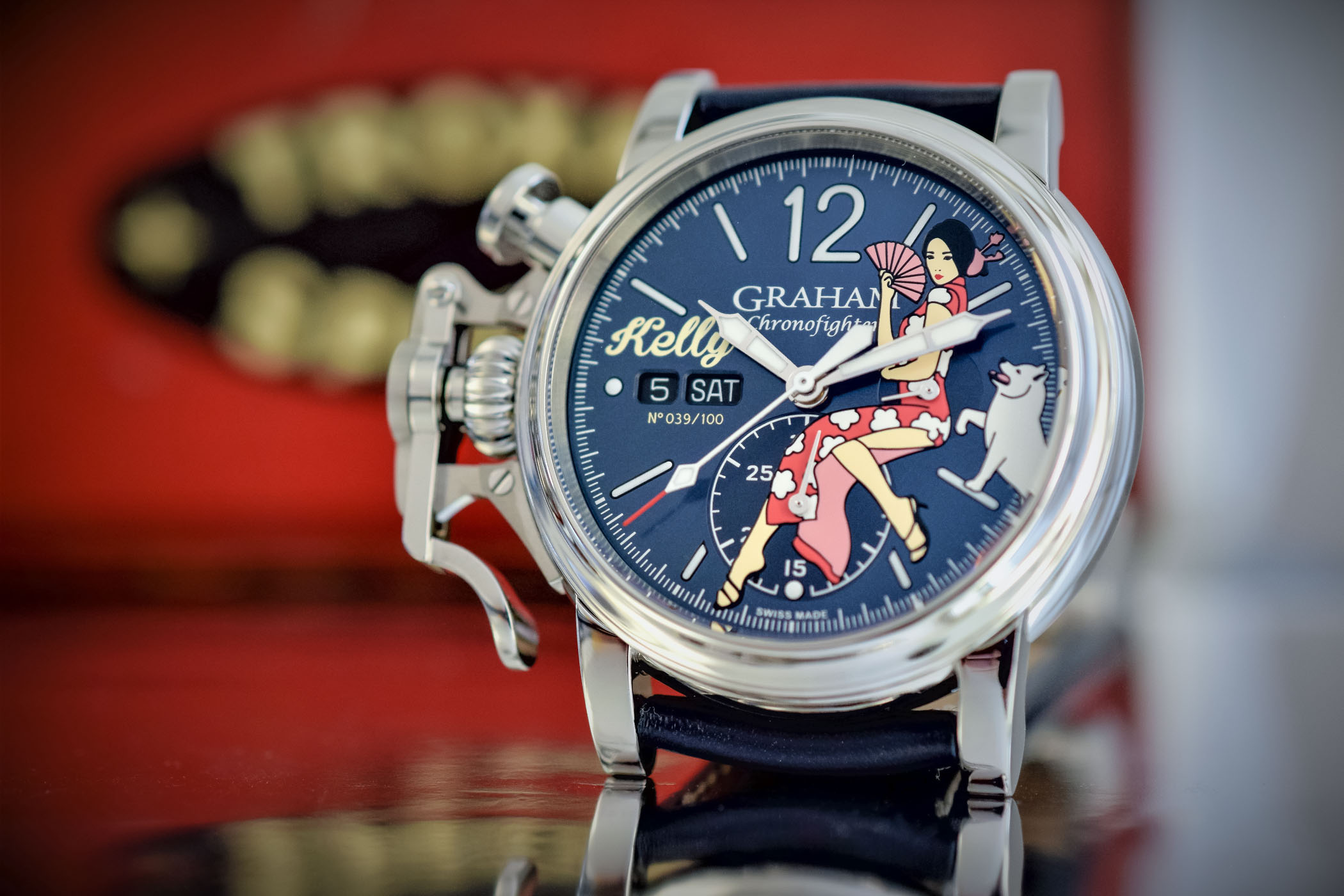 Graham Chronofighter Vintage Nose Art Ltd Kelly