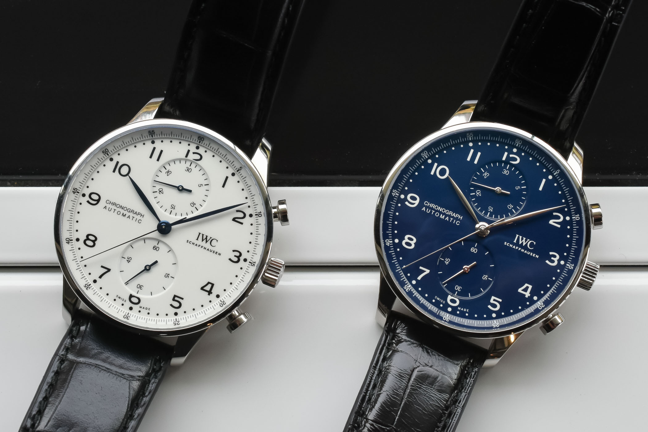 hands on iwc portugieser chronograph edition 150 years. Black Bedroom Furniture Sets. Home Design Ideas