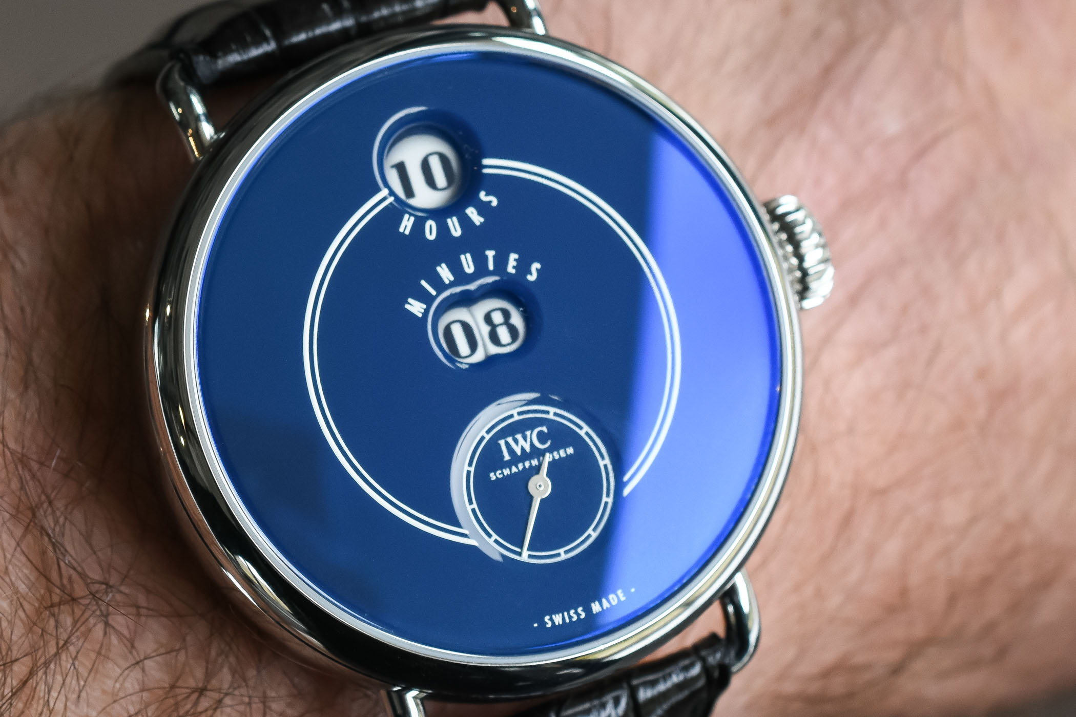 IWC Tribute to Pallweber Edition 150 Years stainless steel blue dial ref IW505003 - SIHH 2018