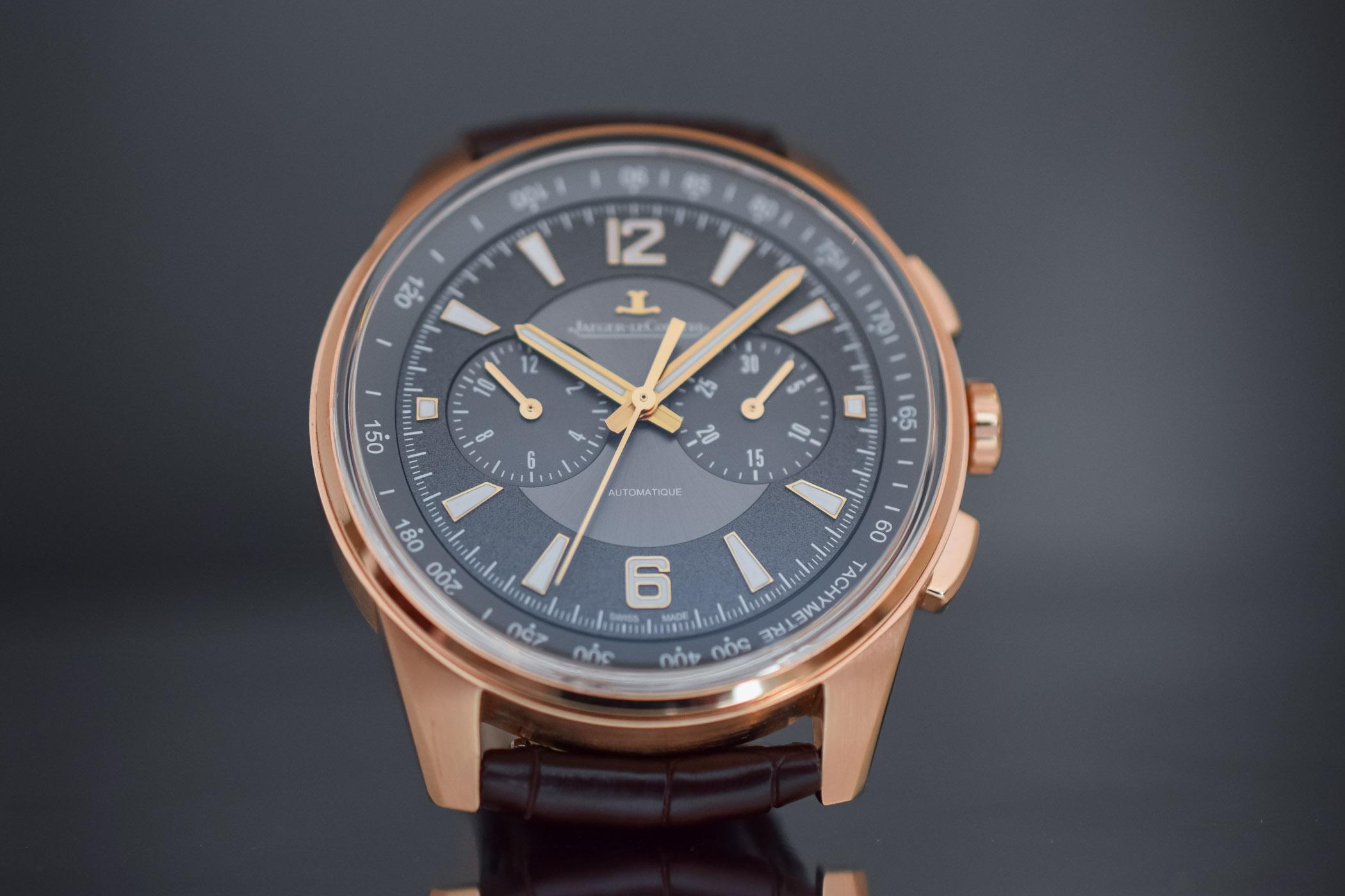 Jaeger LeCoultre Polaris Chronograph 2018 pink gold grey dial