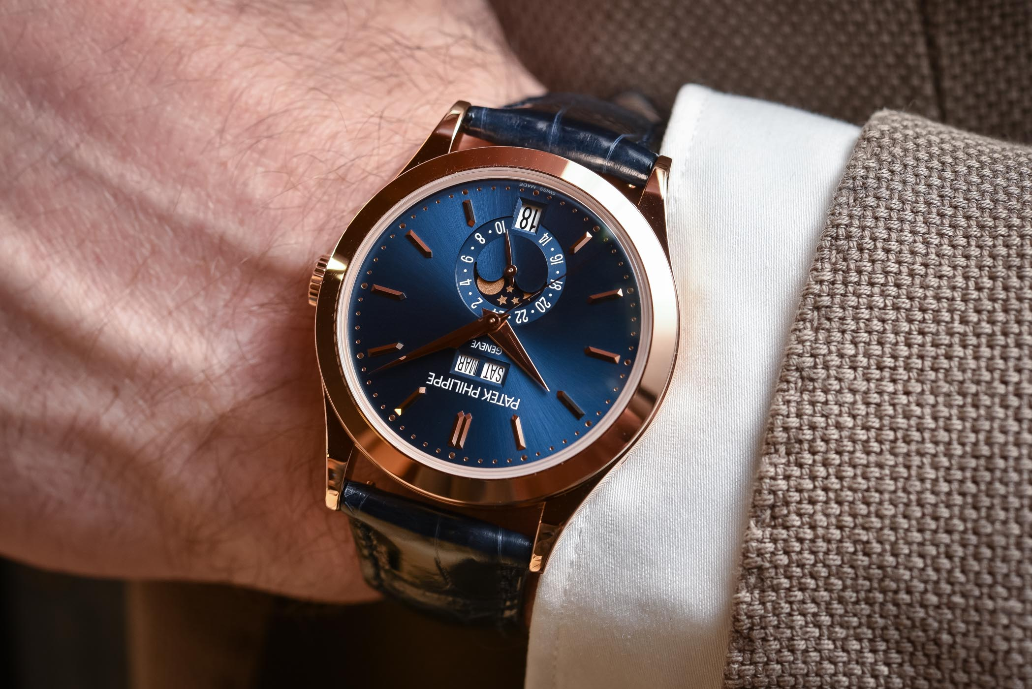 Hands-On - Patek Philippe 5396R Annual Calendar Blue Dial (Specs ... dec3ed12c9f6