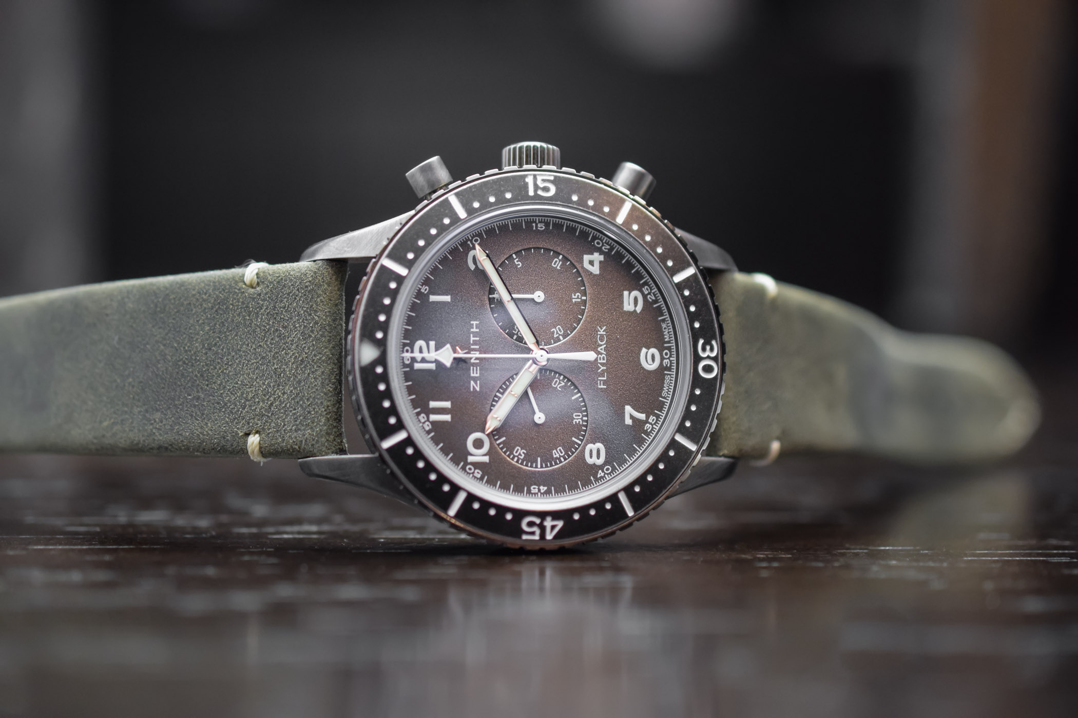 Zenith Pilot Cronometro Tipo CP-2 Flyback Aged Steel