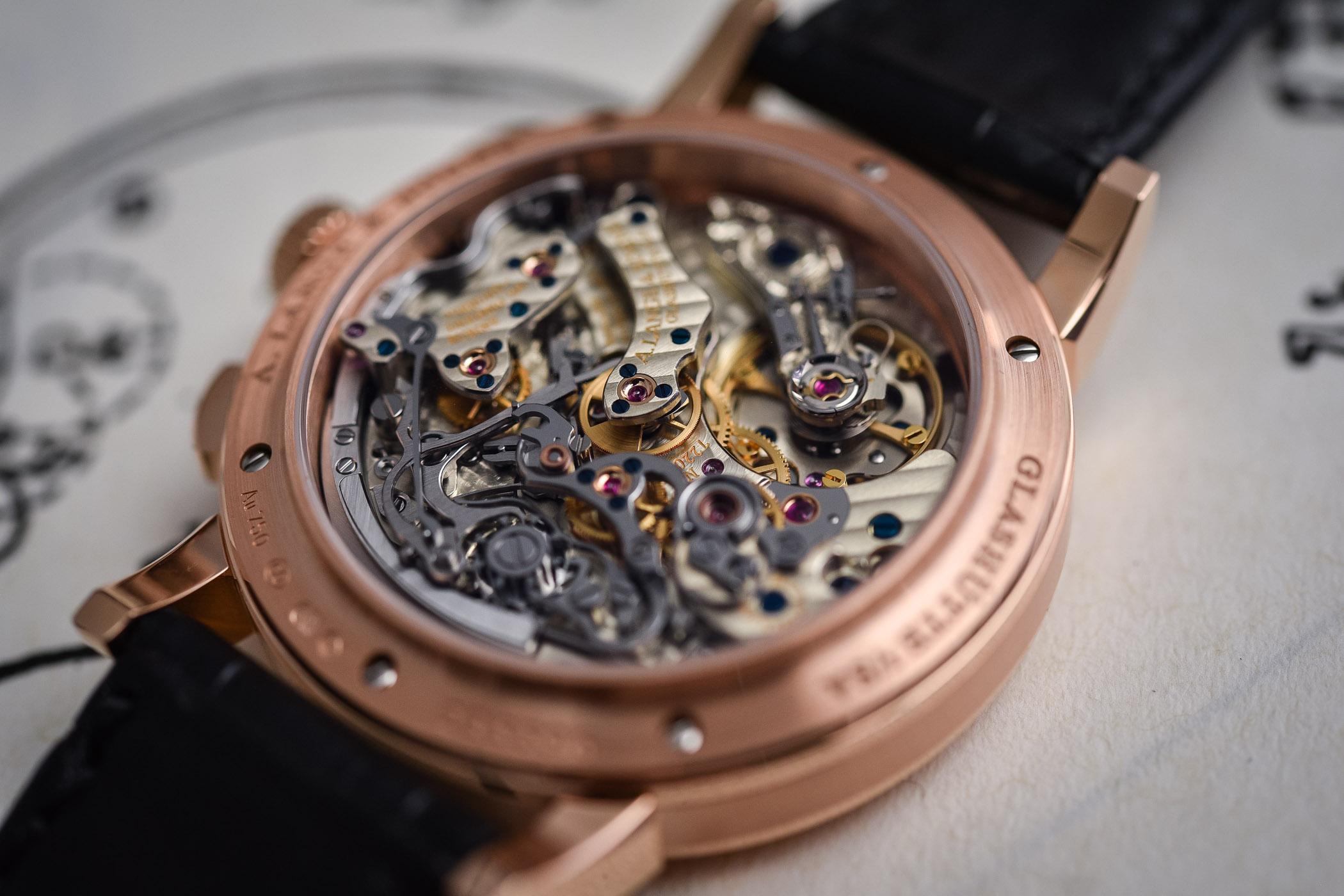 A Lange Sohne 1815 Chronograph Black Dial Rose Gold - SIHH 2018