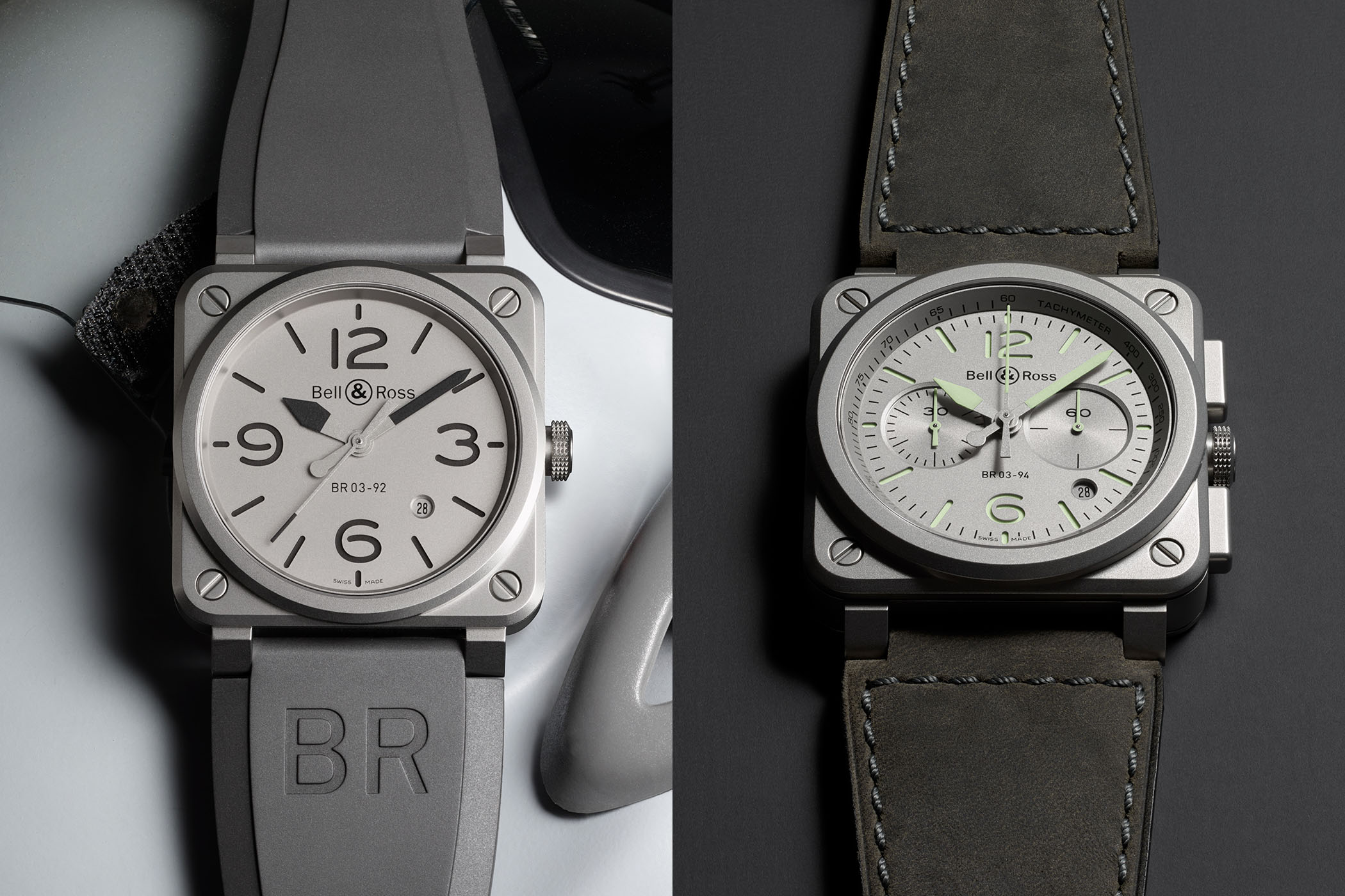 Bell and Ross BR03-92 Horoblack - Bell and Ross BR03-94 Horolum - Pre-Baselworld 2018