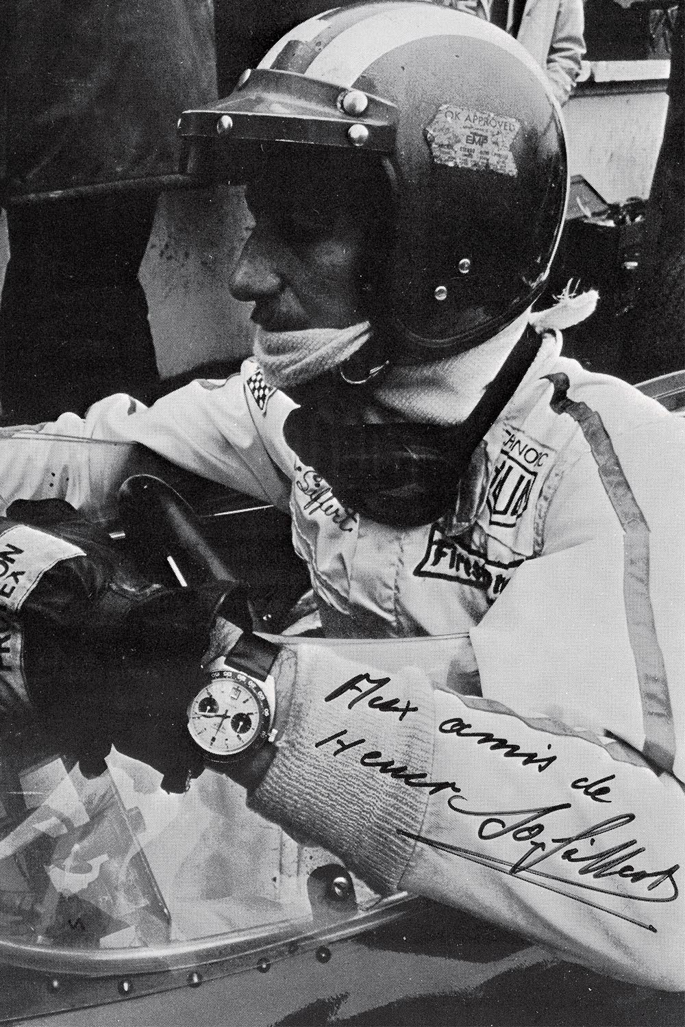Jo Siffert wearing his Heuer Autavia 1163T