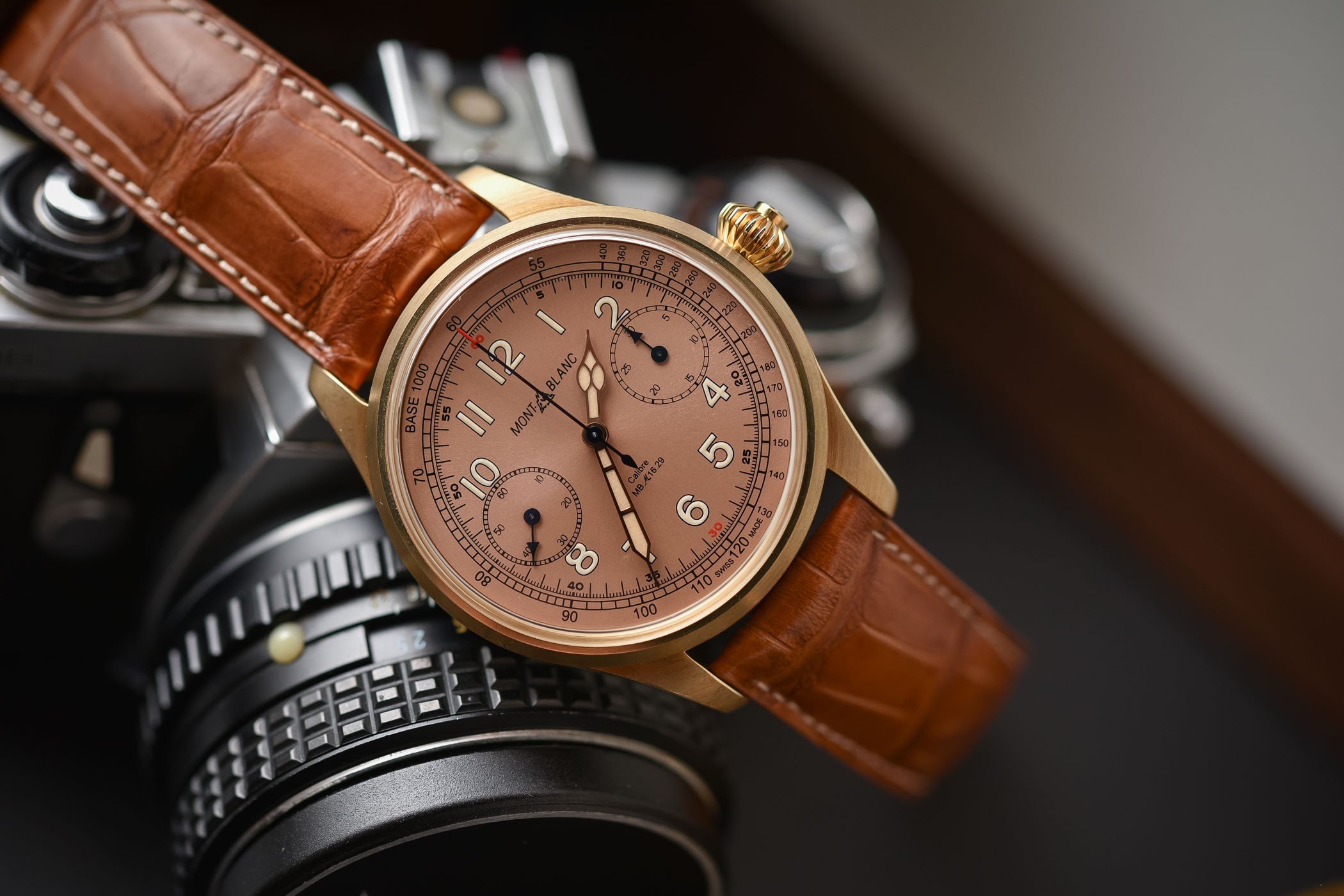 Montblanc 1858 Chronograph Tachymeter Limited Edition Bronze Salmon Dial
