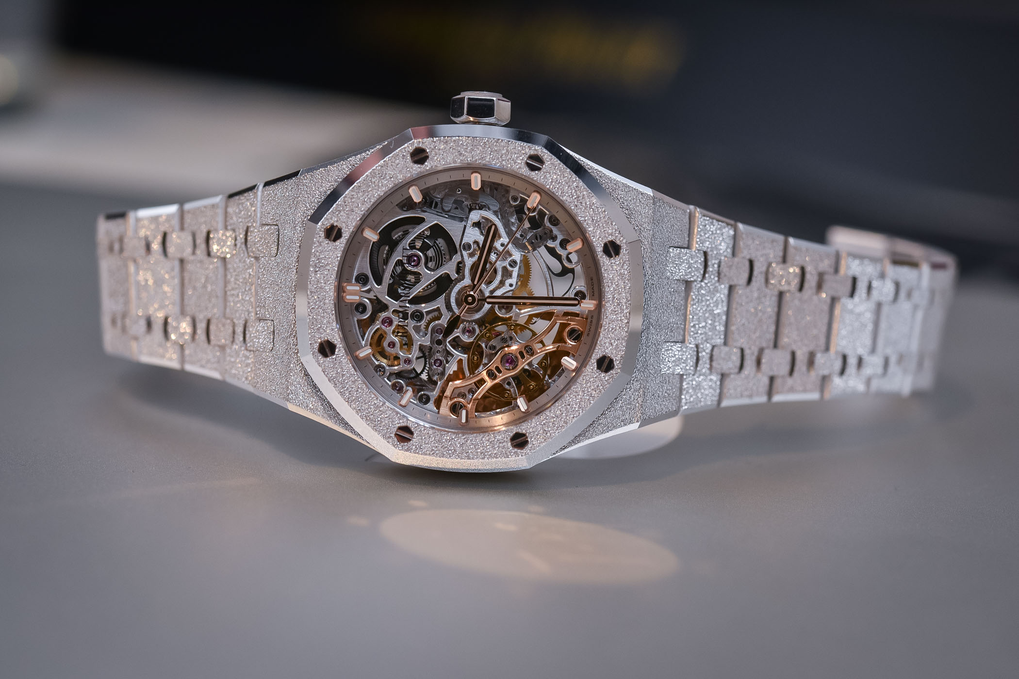 5413ba4ec5 Audemars Piguet Royal Oak Double Balance Wheel Openworked 37mm Frosted Gold  white - 15466BC.GG