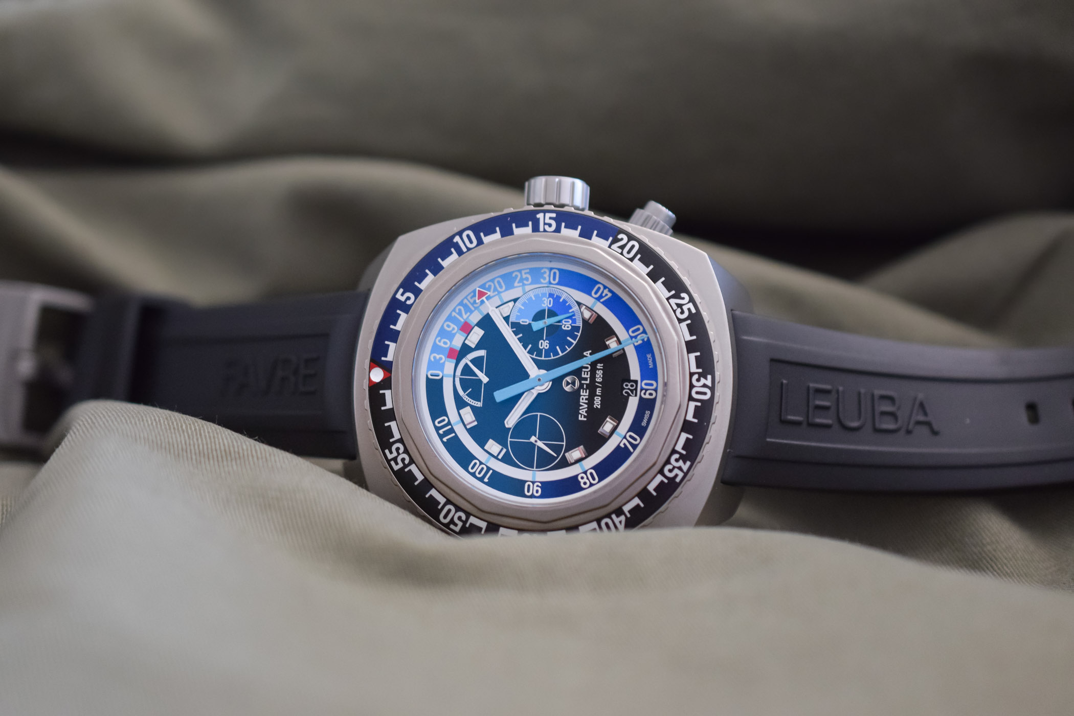 Best Dive Watches Baselworld 2018 - FAVRE-LEUBA RAIDER BATHY 120 MEMODEPTH