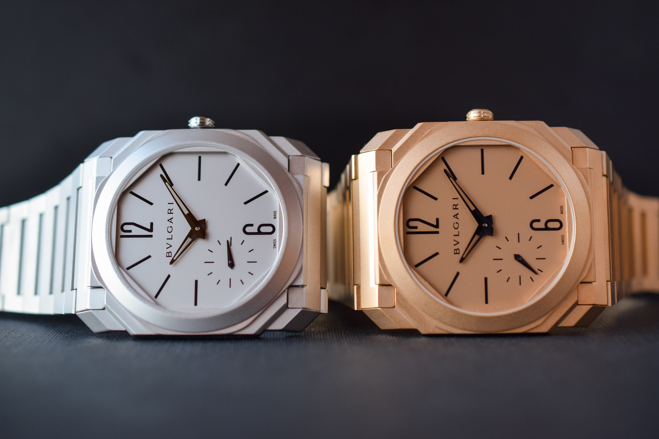 Bvlgari Octo Finissimo Automatic Steel and pink gold - Baselworld 2018