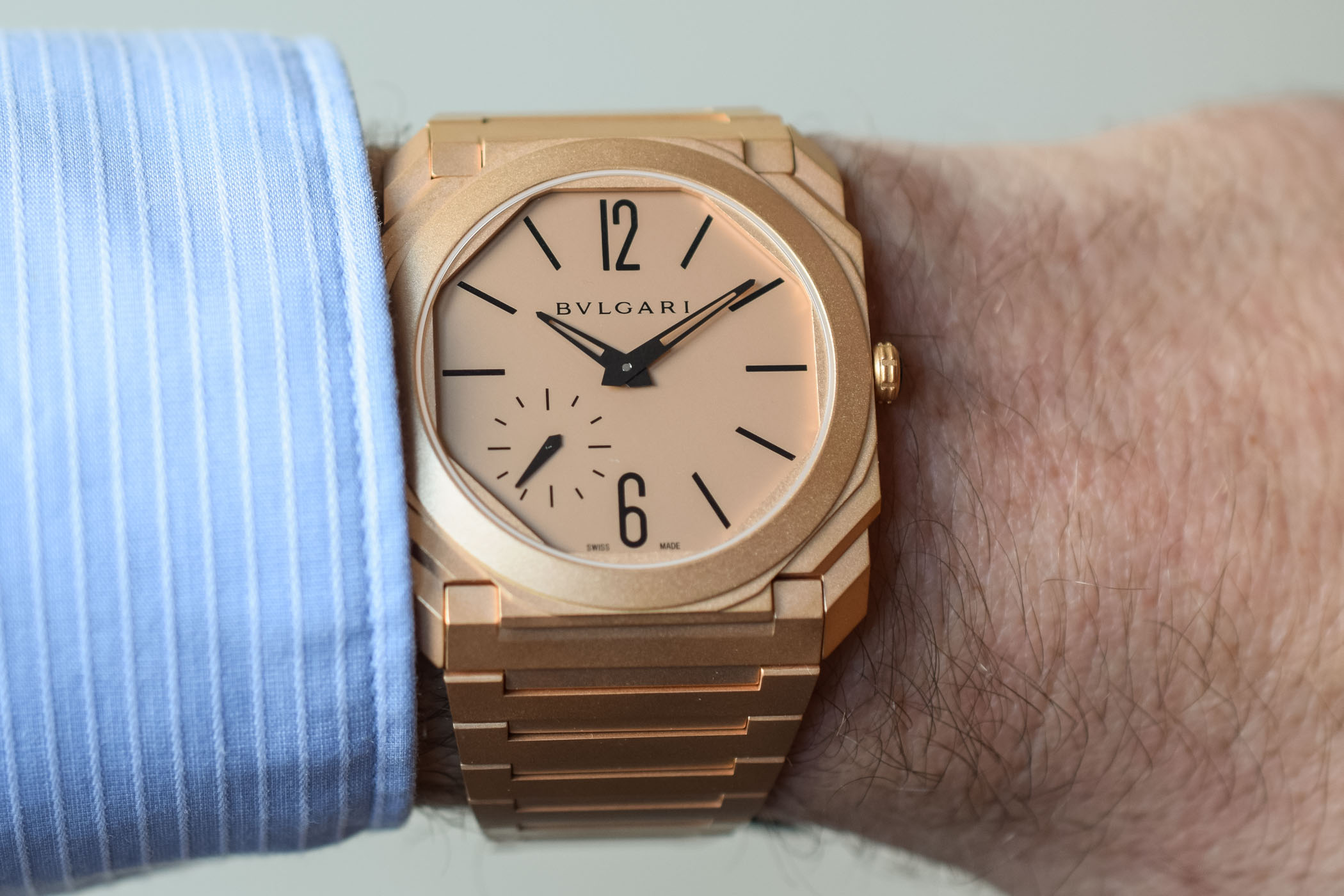 Bvlgari Octo Finissimo Automatic pink gold - Baselworld 2018
