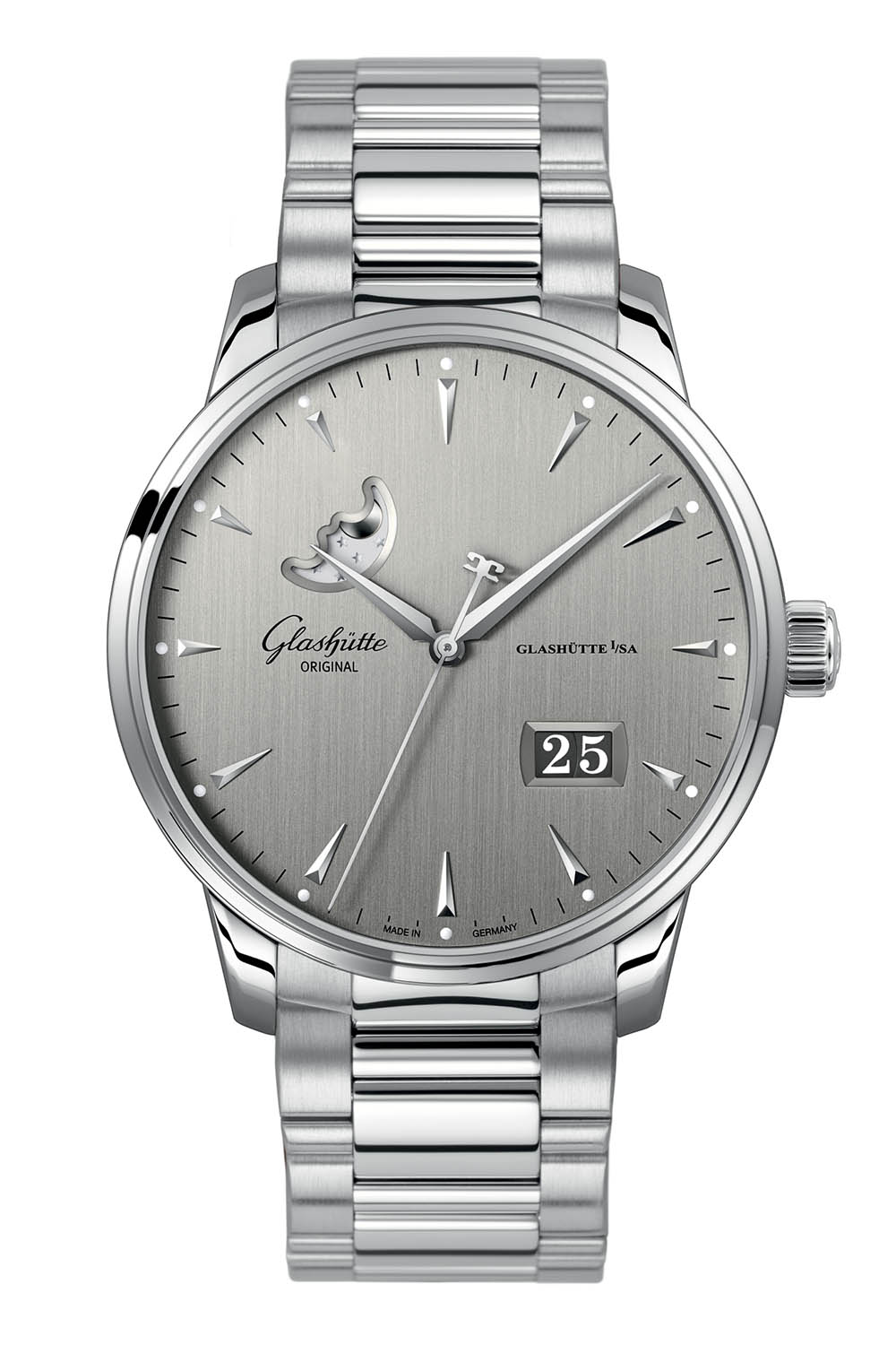 Glashutte Original Senator Excellence Date Moonphase steel 42mm - Baselworld 2018 - 1