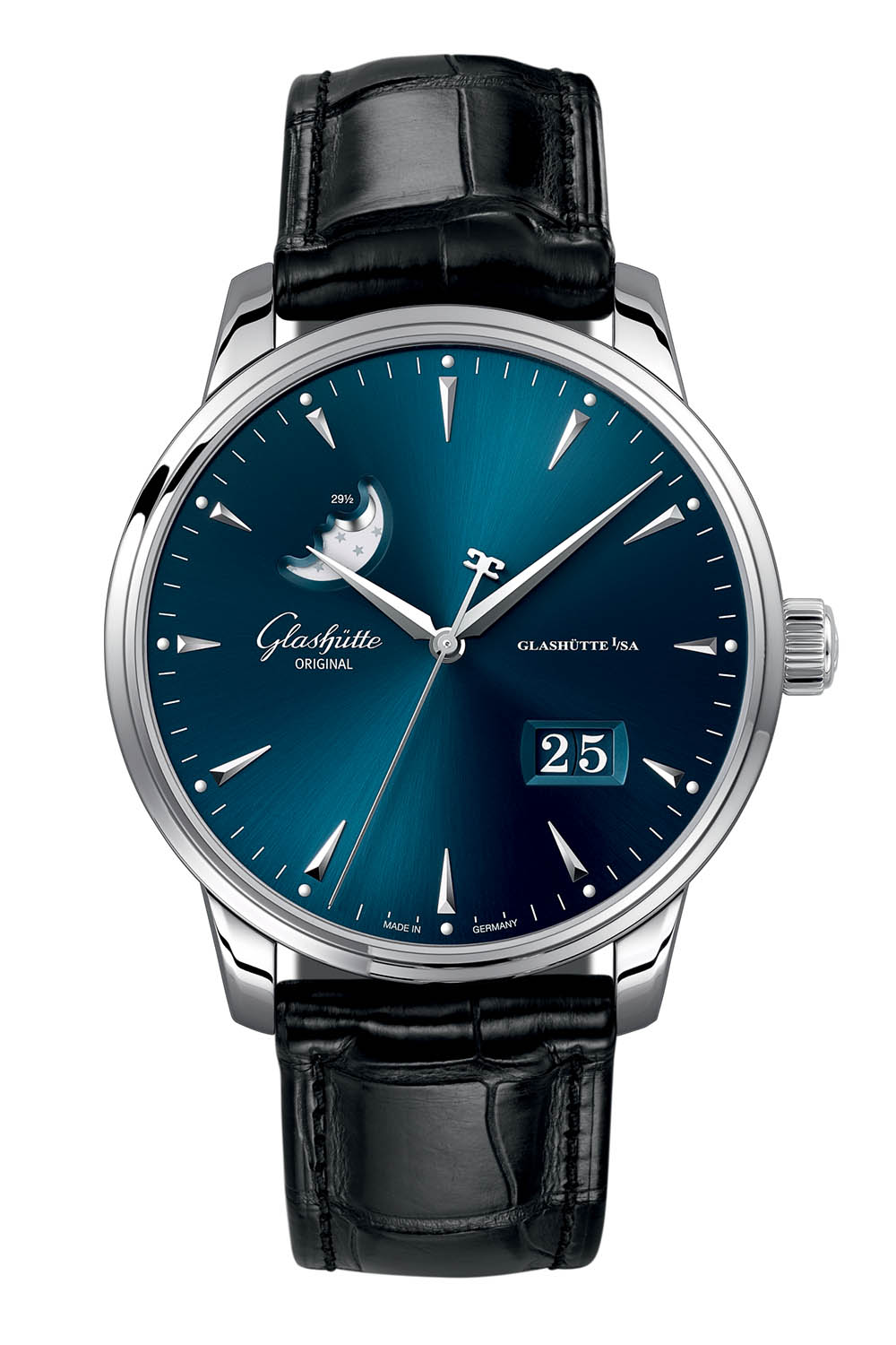 Glashutte Original Senator Excellence Date Moonphase steel 42mm - Baselworld 2018 - 2