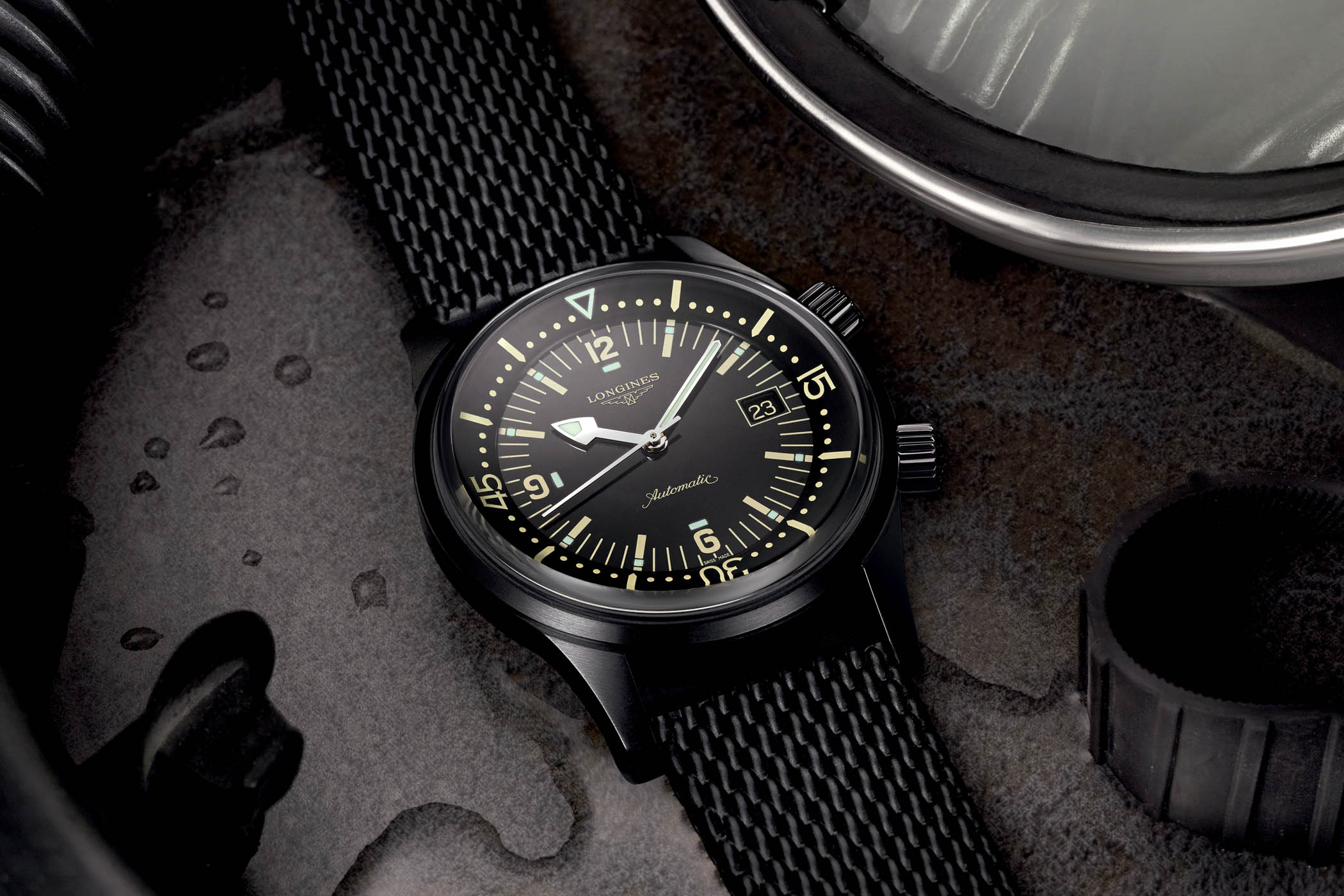 575acd8e3847 Longines Legend Diver Black PVD with new movement - Baselworld 2018 ...