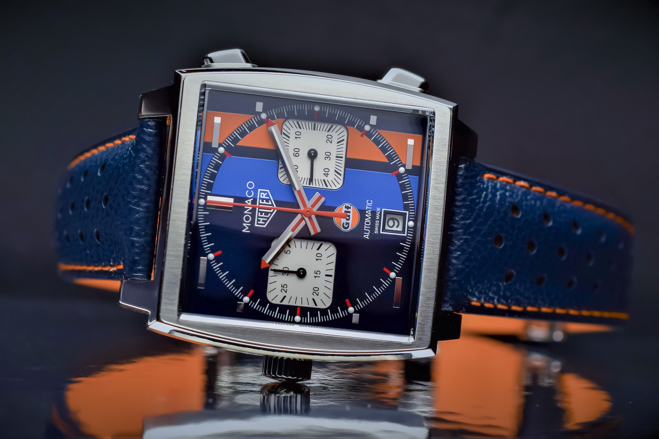6cec180b1 Hands-On - TAG Heuer Monaco Gulf 2018 Special Edition CAW211R.FC6401 ...