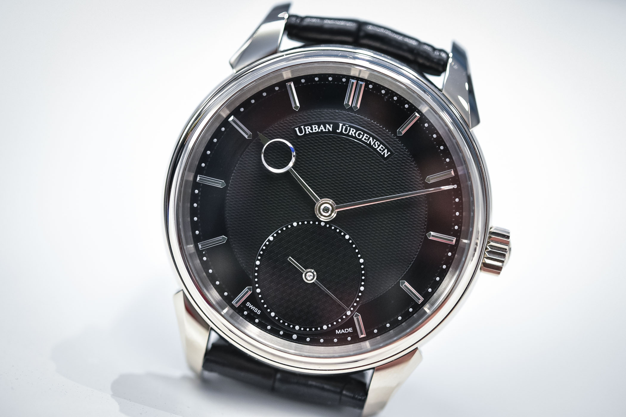 Urban Jurgensen 2140 White Gold Black Guilloche Dial - Baselworld 2018