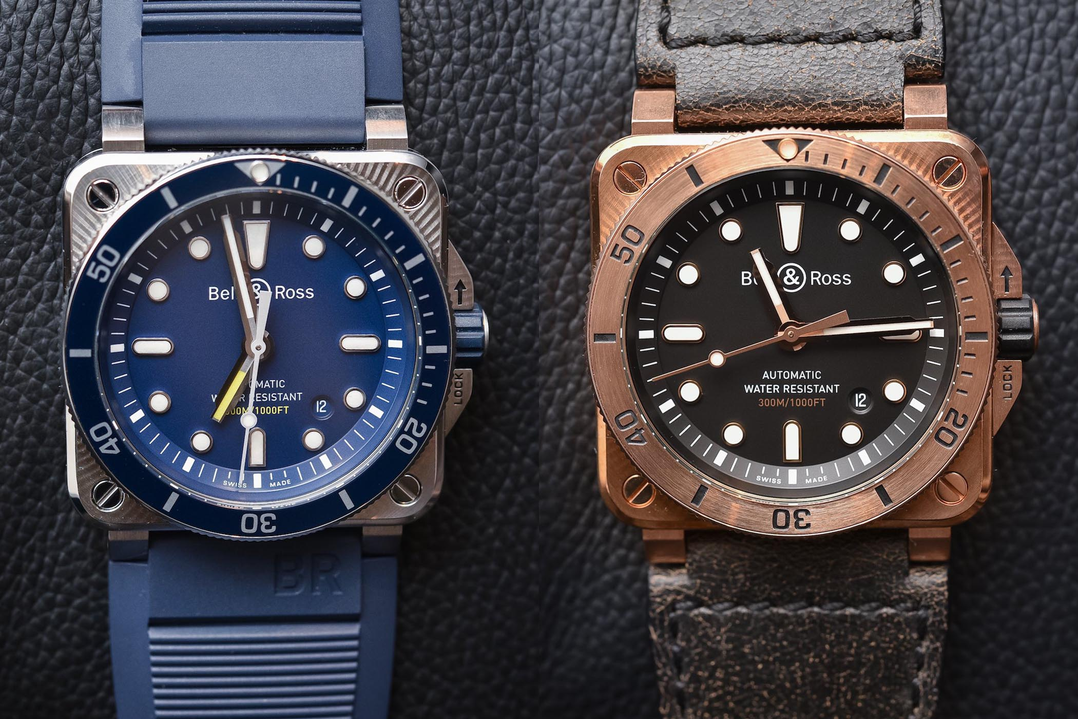 Bell & Ross BR-03-92 Diver Blue and Bronze - Baselworld 2018 - review
