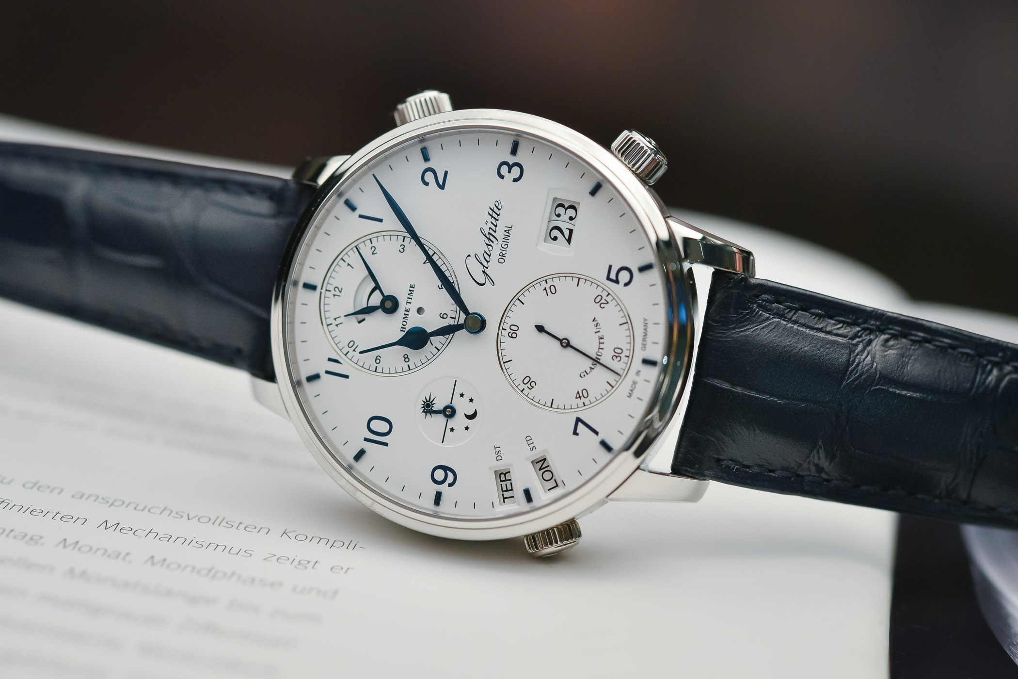 Best GMT Travellers watches Baselworld 2018 - Glashutte Original Senator Cosmopolite Steel