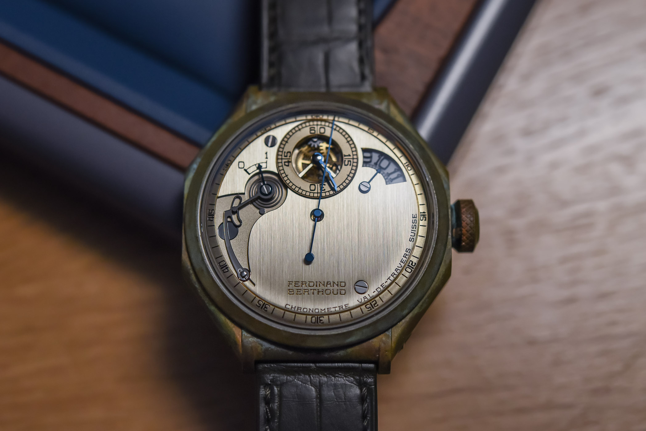 Ferdinand Berthoud chronometre fb 1r5 edition 1785 patinated bronze