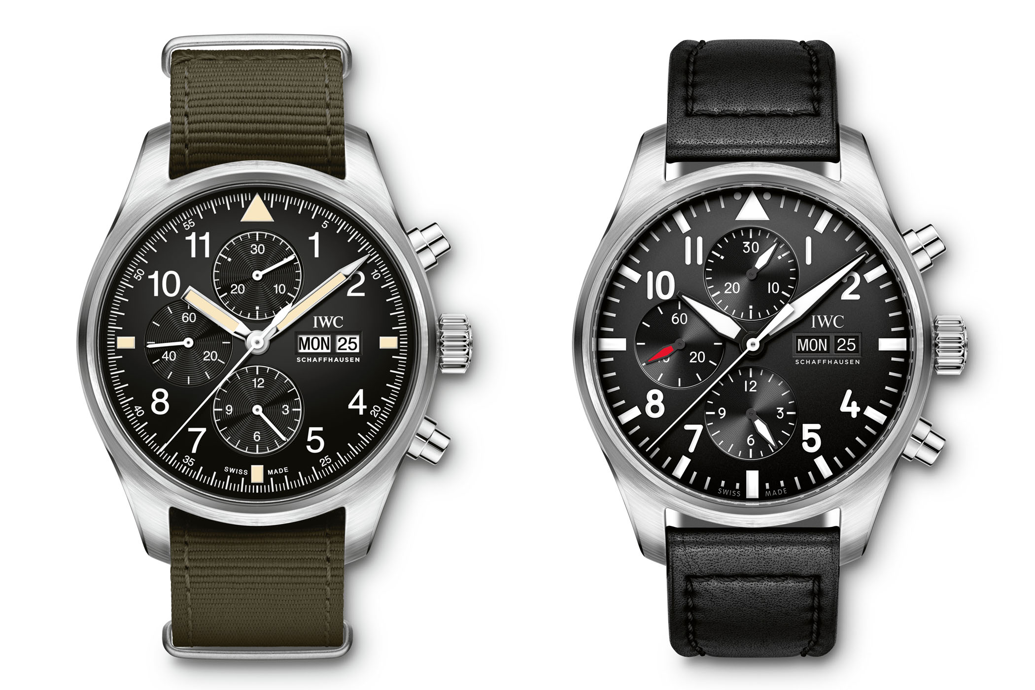 IWC Pilots Watch Chronograph IW377724 vs IW377709