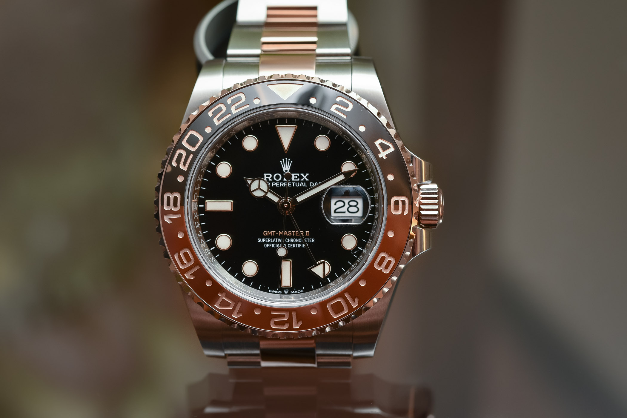 Rolex GMT Master II Rolesor Everose Root-Beer 126711 CHNR - Baselworld 2018