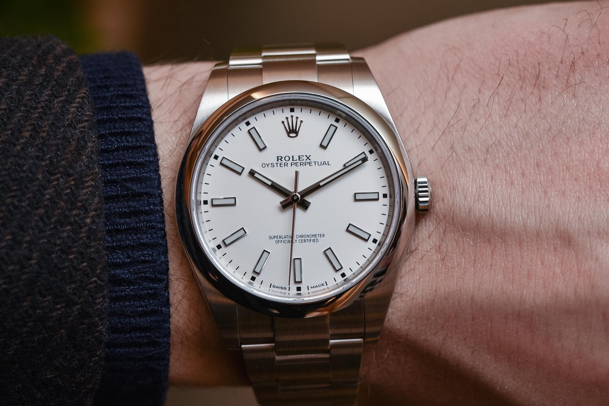 642d985f592 Rolex Oyster Perpetual 39 Ref. 114300 White Dial - Baselworld 2018 ...