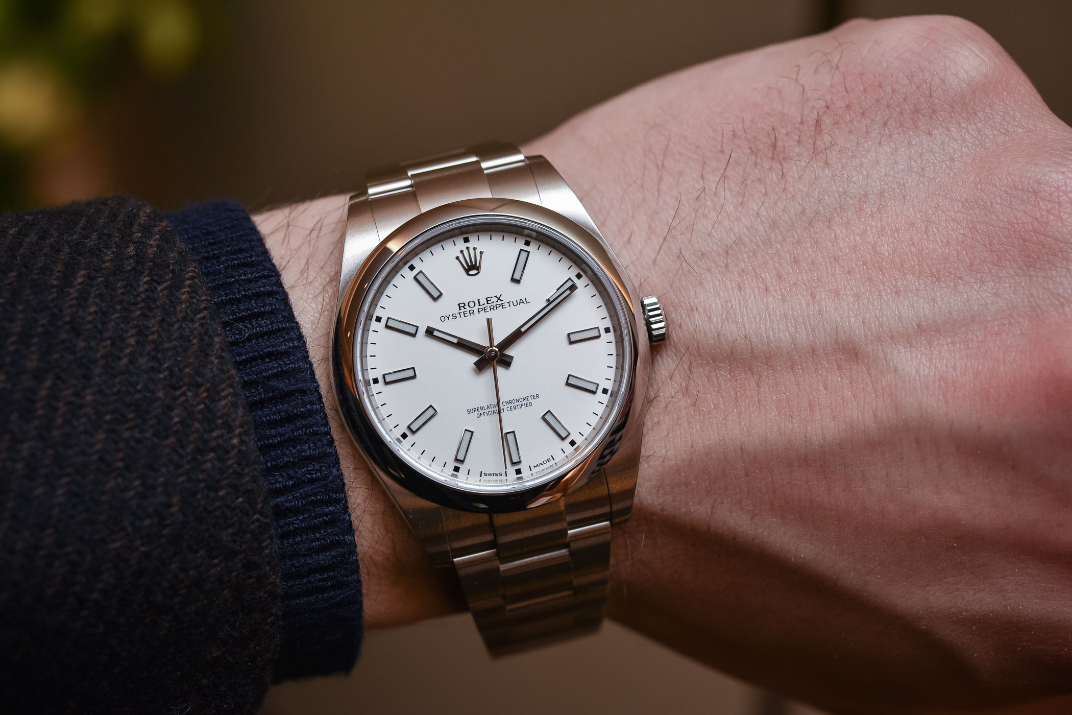 Rolex Oyster Perpetual 39 Ref 114300 White Dial Baselworld 2018