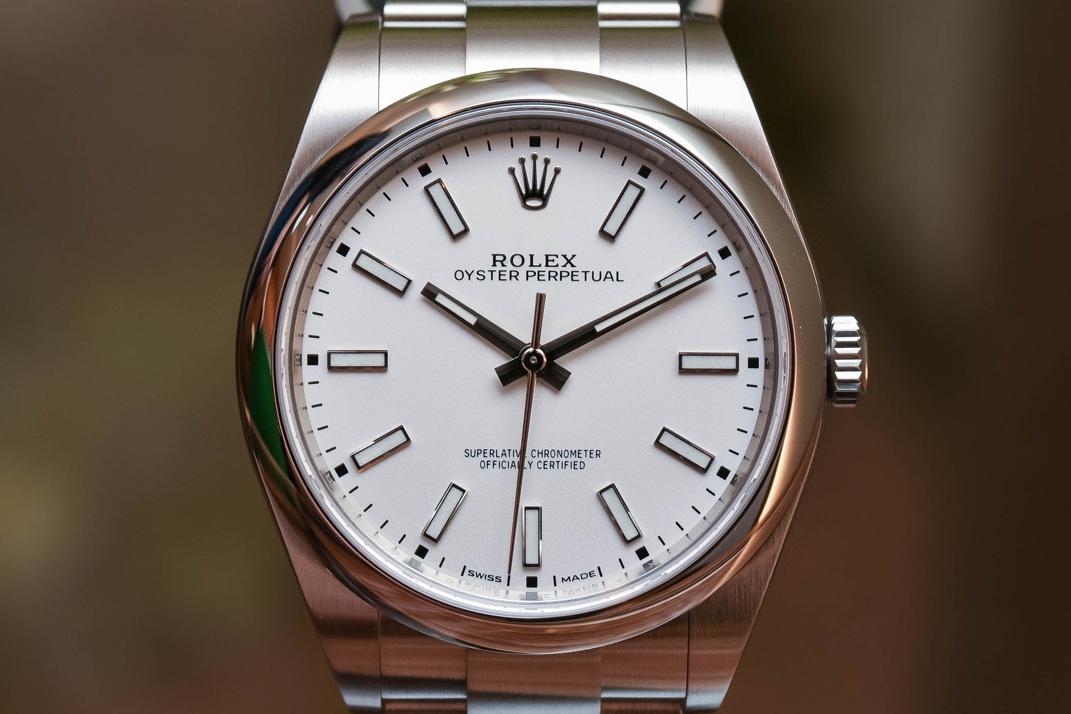65dc6a19a8b Rolex Oyster Perpetual 39 Ref. 114300 White Dial - Baselworld 2018 ...