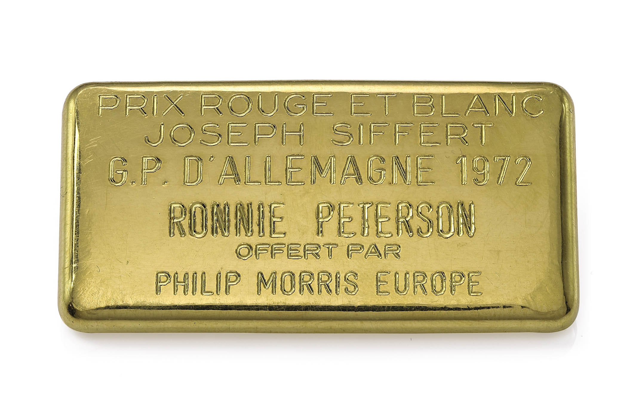 Ronnie Peterson Jo Siffert Prix Rouge et Blanc Award