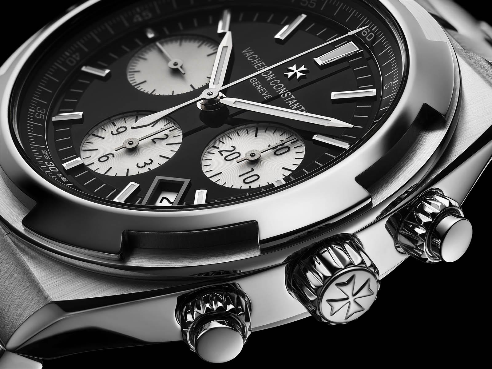 Vacheron Contantin Overseas Black Dial chronograph reverse panda