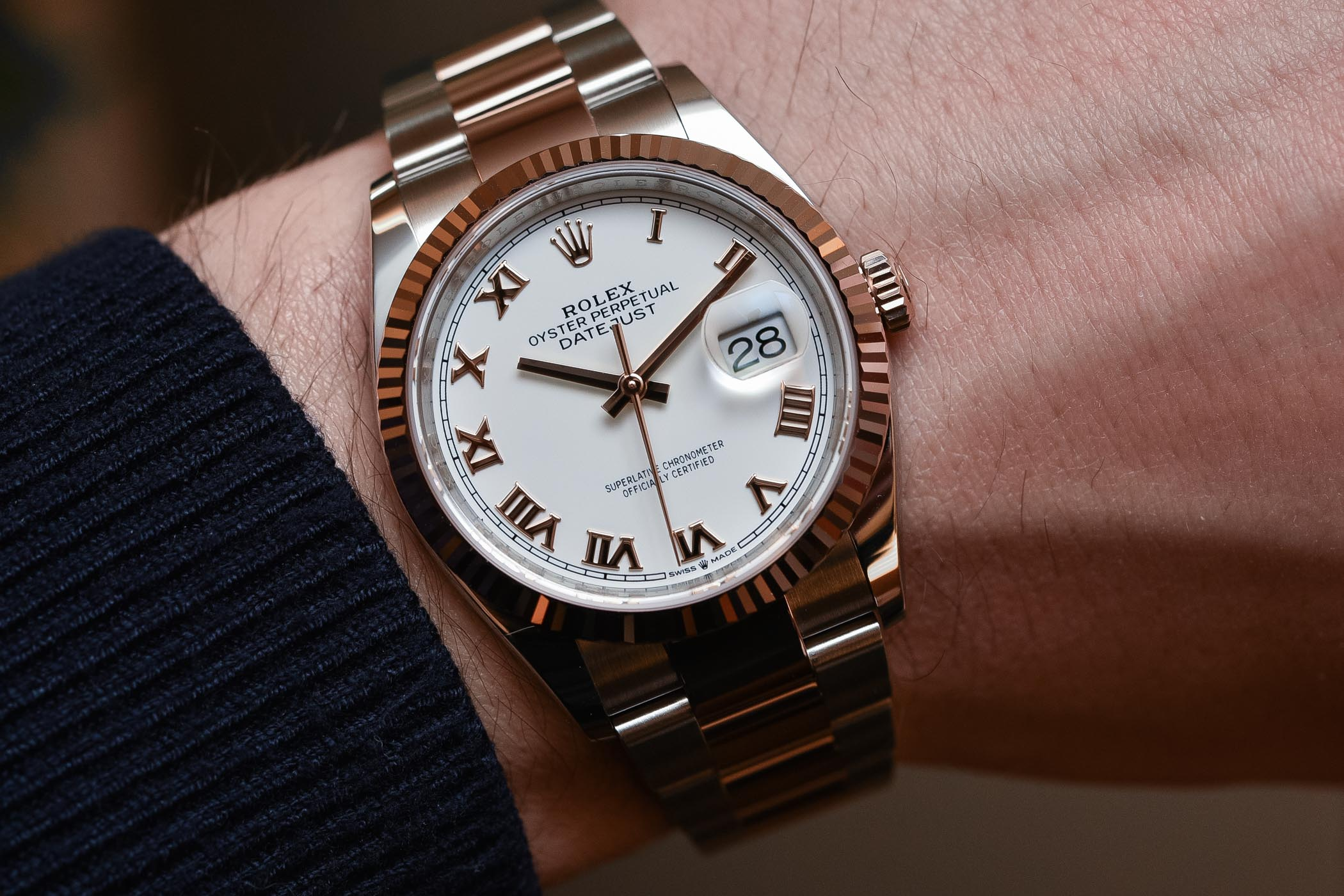 2018 Rolex Datejust 36 ref 126231 Rolesor Everose calibre 3235