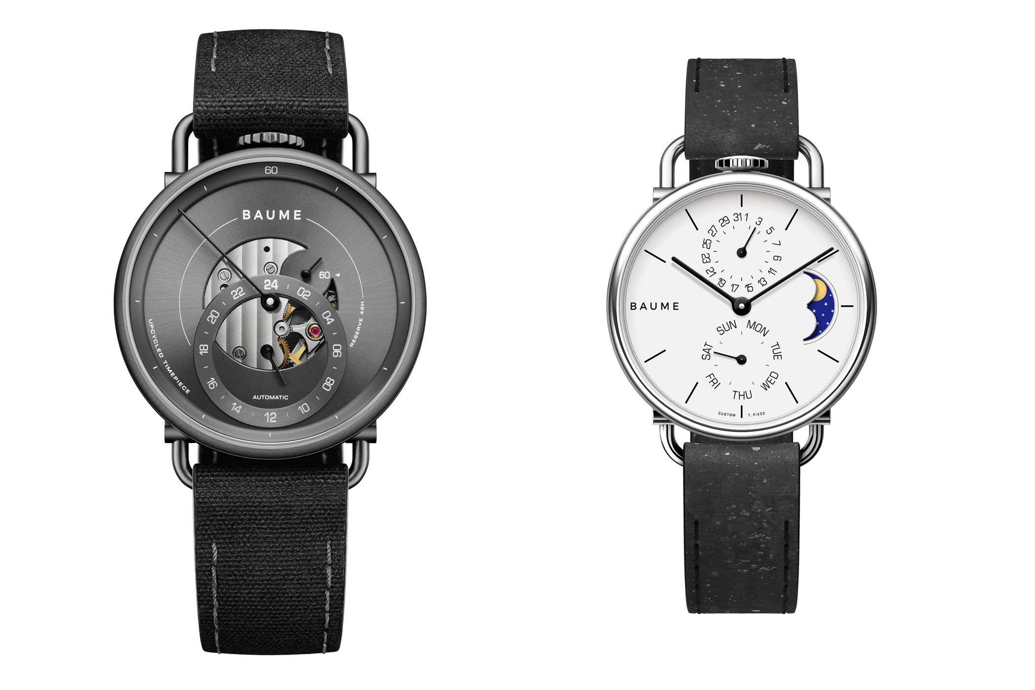 Baume Iconic and Custom Timepiece of 35mm with moon phase