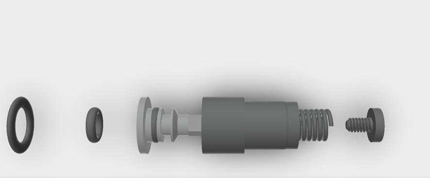 Delma Blue Shark II 3000m helium valve - 3