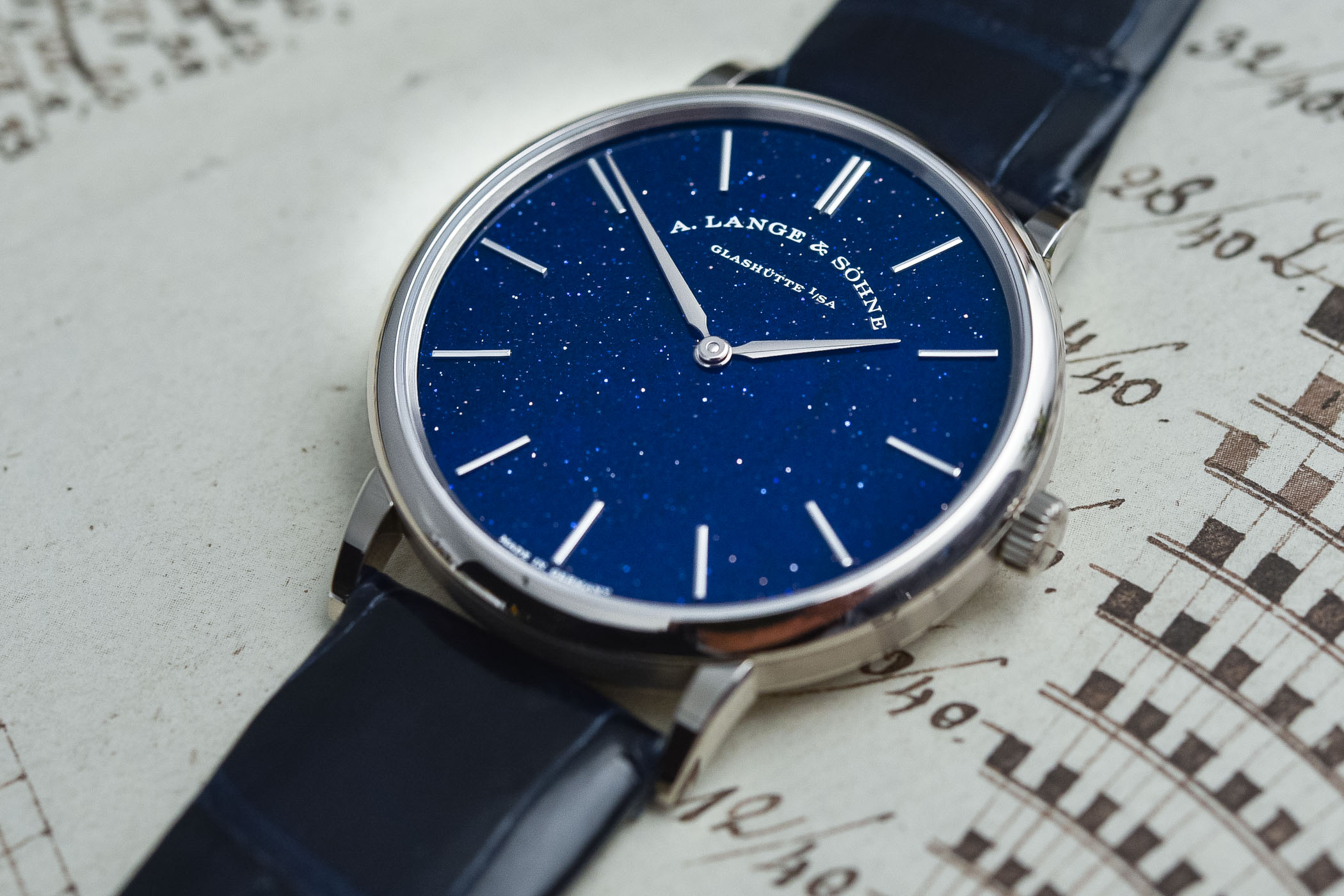 A. Lange & Söhne Saxonia Thin Copper-Blue Dial