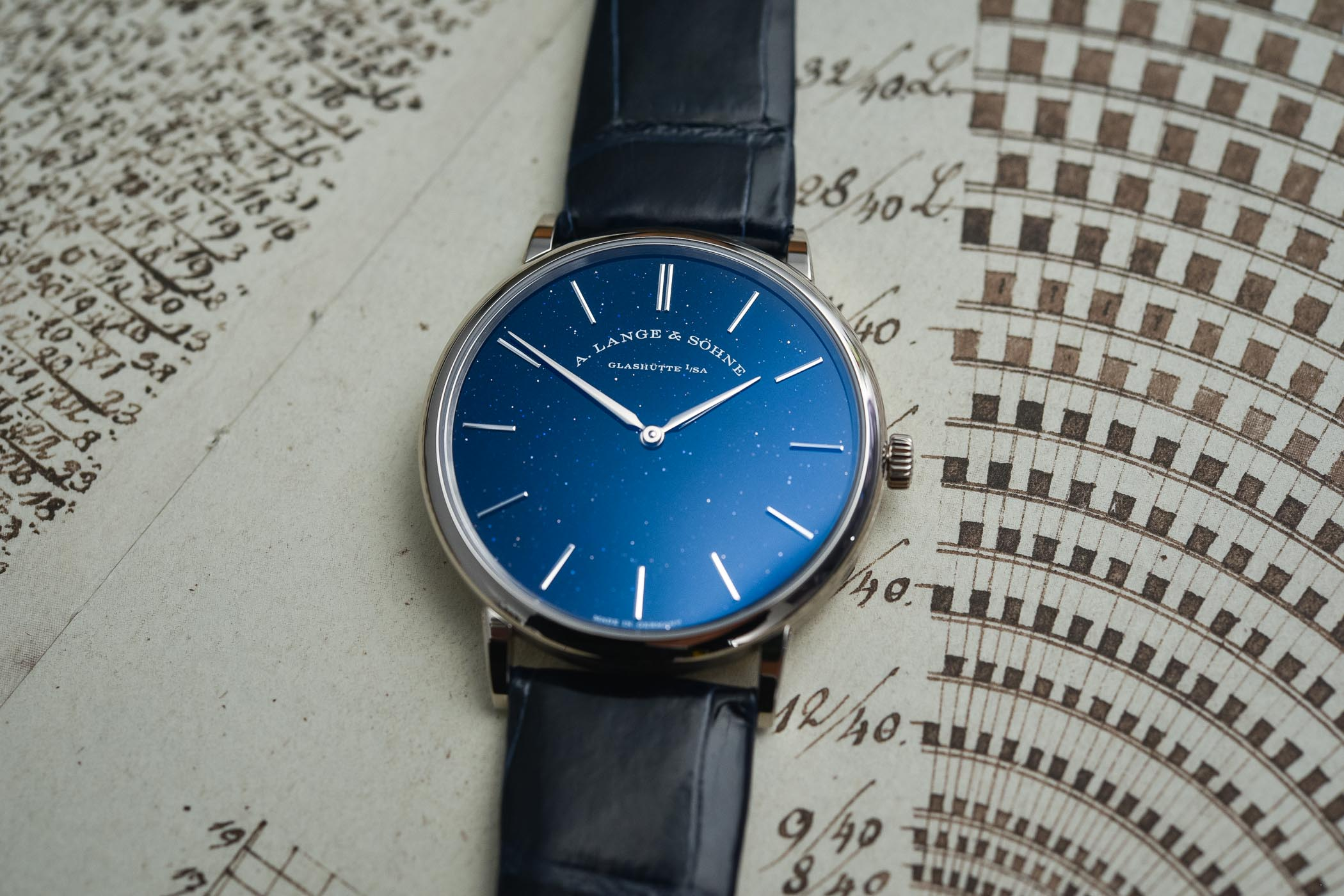 A. Lange & Söhne Saxonia Thin Copper-Blue Dial