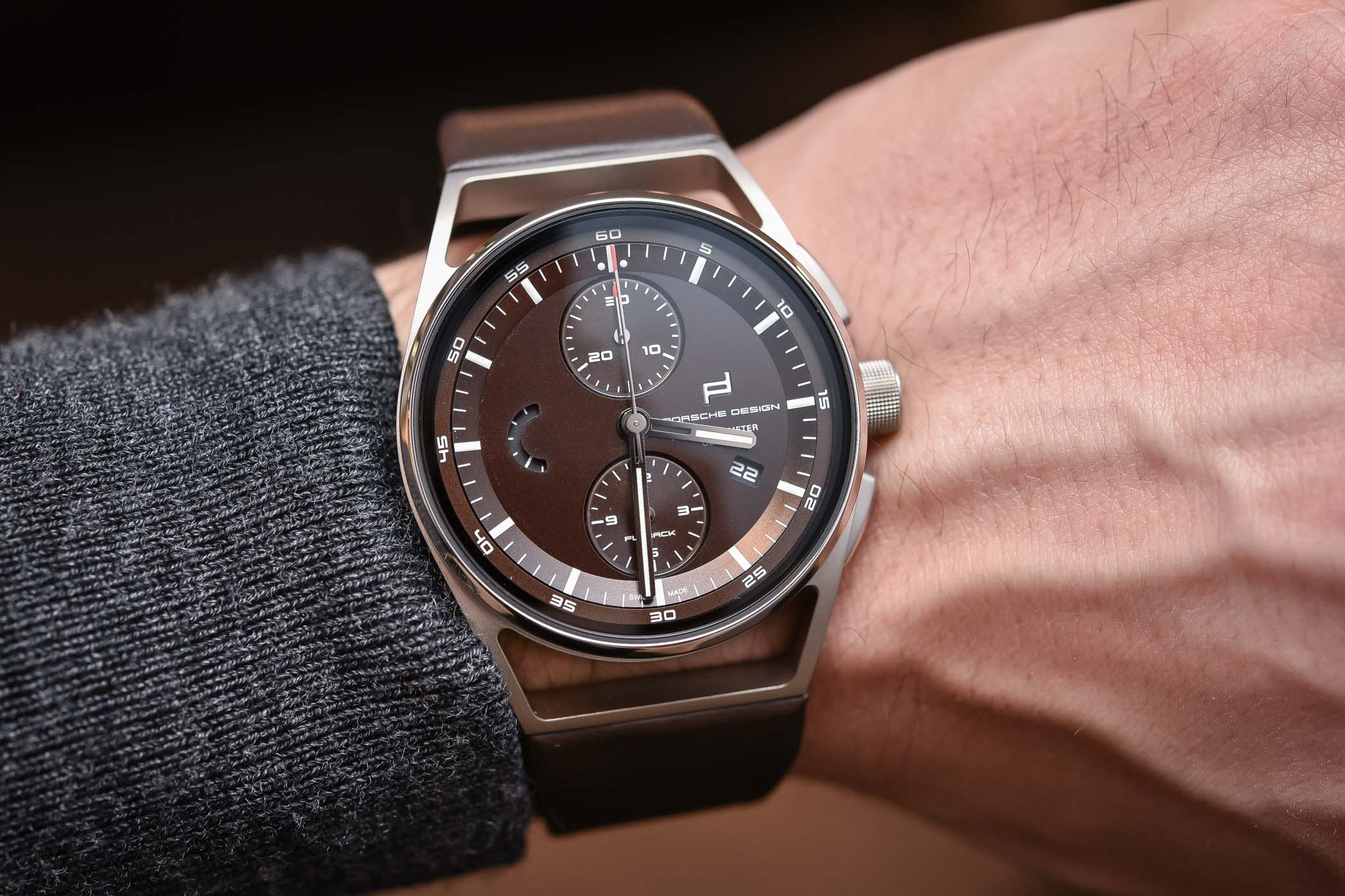 Porsche design 1919 Chronotimer Flyback Brown and Leather - Buying Guide Brown Watches