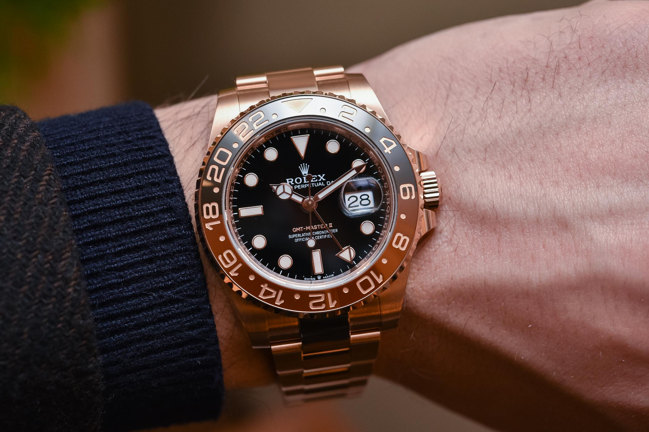 Rolex GMT-Master II Everose Gold Root Beer Brown 126715CHNR - Buying Guide Brown Watches