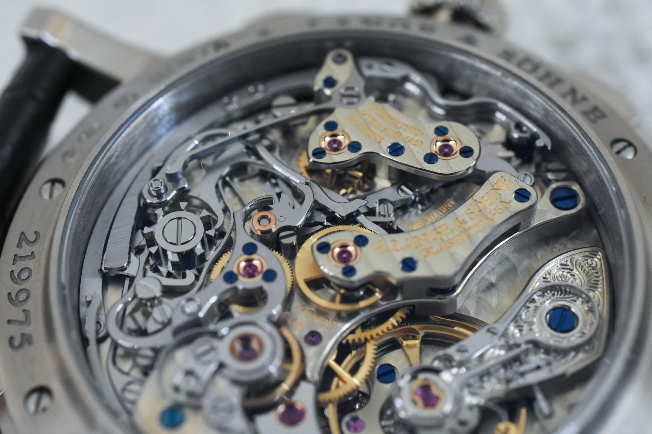 A Lange Sohne Datograph Pertual White Gold Grey Dial