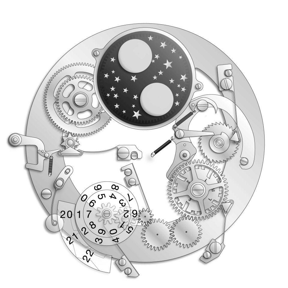Perpetual Calendar mechanism, originally developed by Kurt Klaus