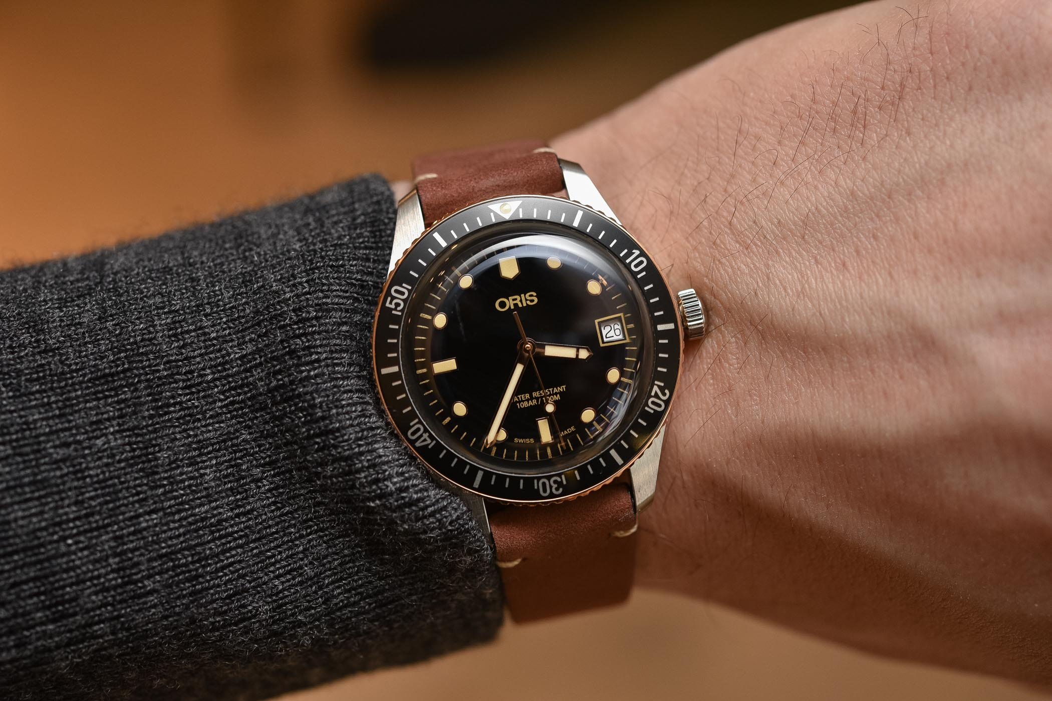 Oris Divers Sixty-Five Steel and Bronze 36mm