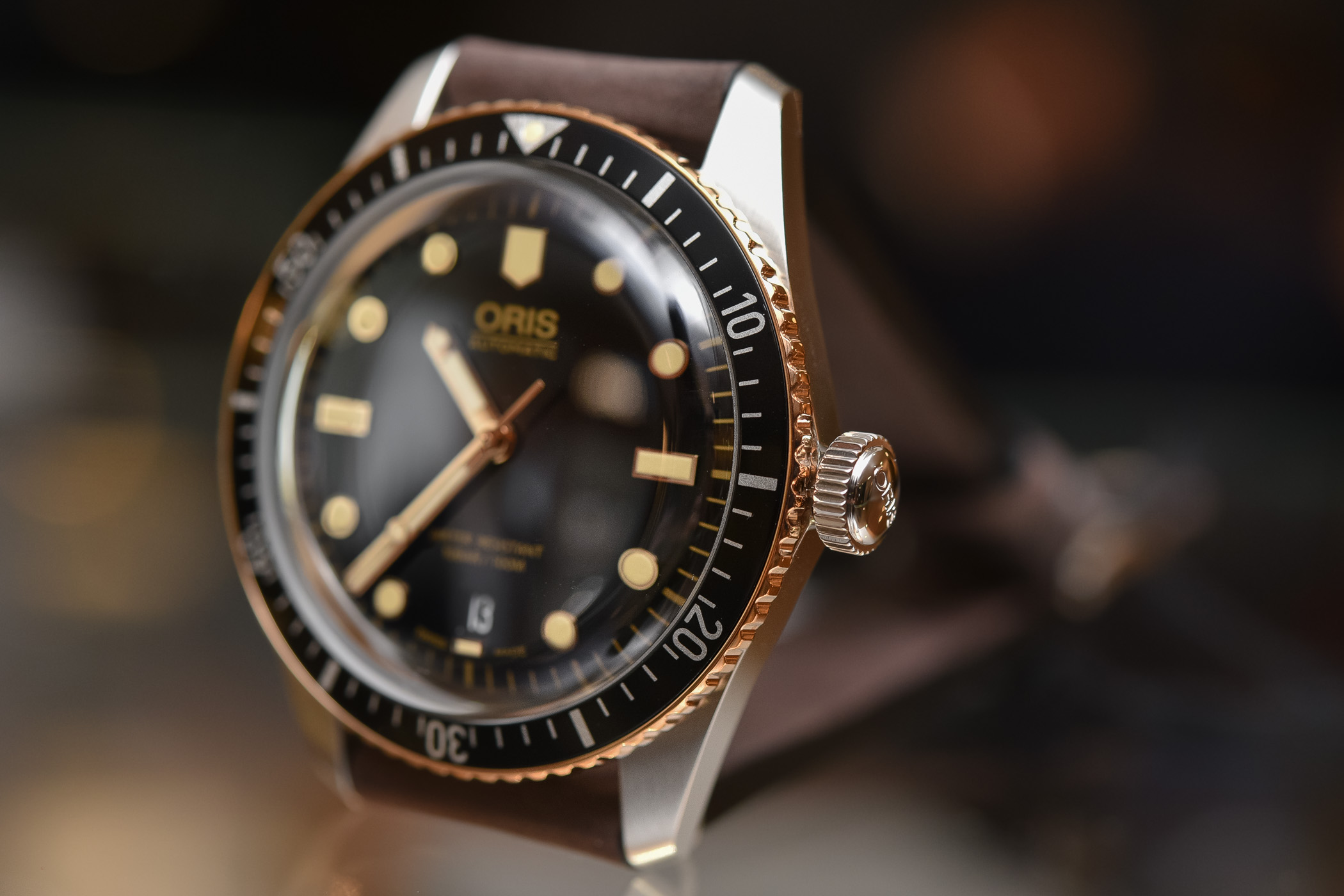 Oris Divers Sixty-Five Steel and Bronze 40mm