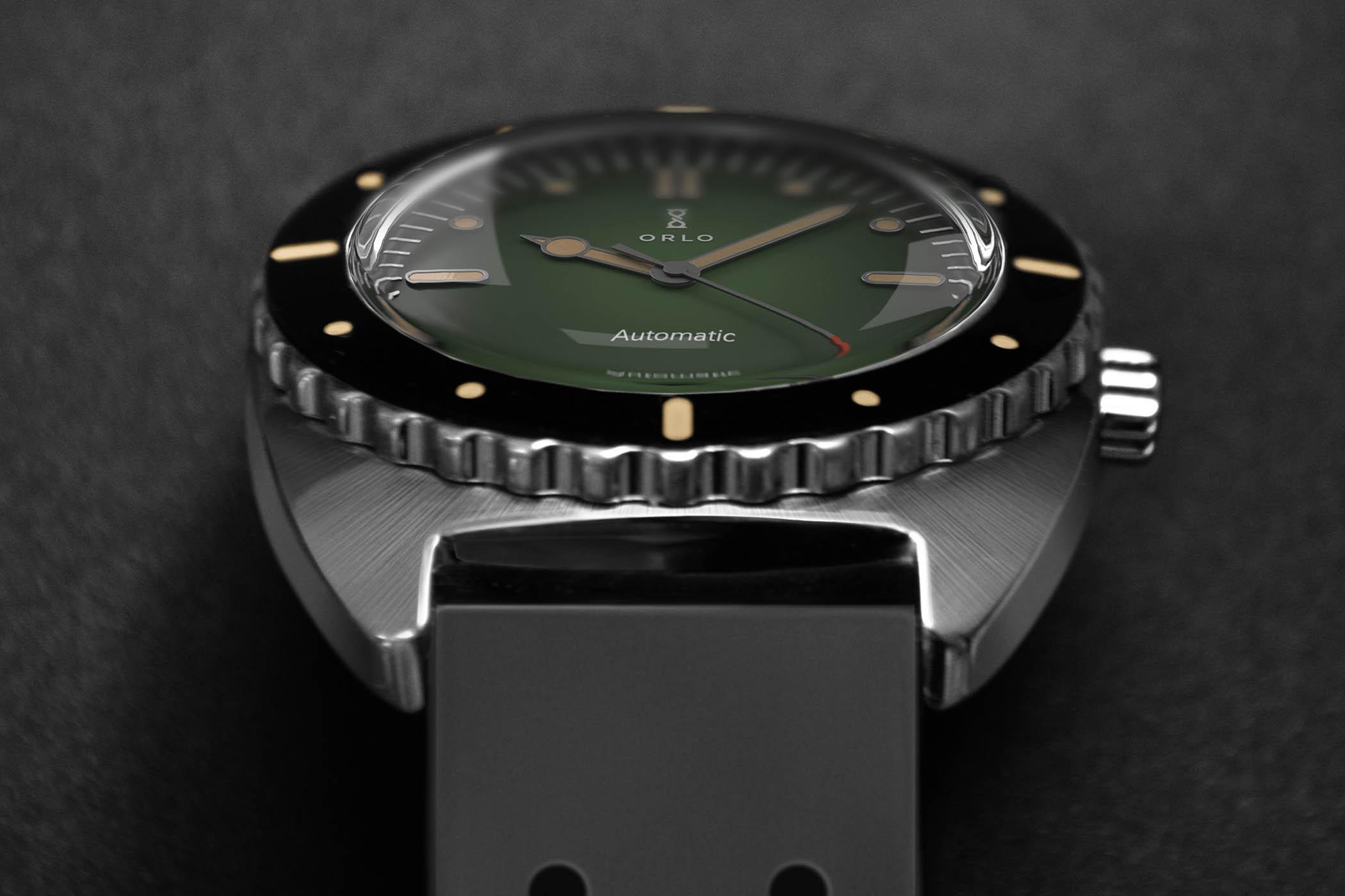 Orlo Ticonite Automatic Diver's Watch wth Scratchproof titanium case