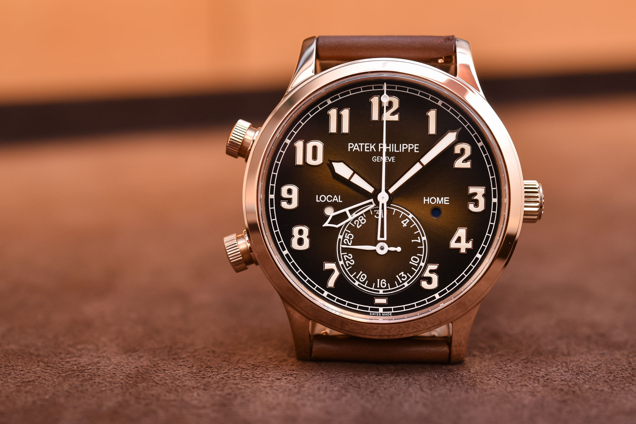 Patek Philippe Calatrava Pilot Travel Time 5524R Rose Gold