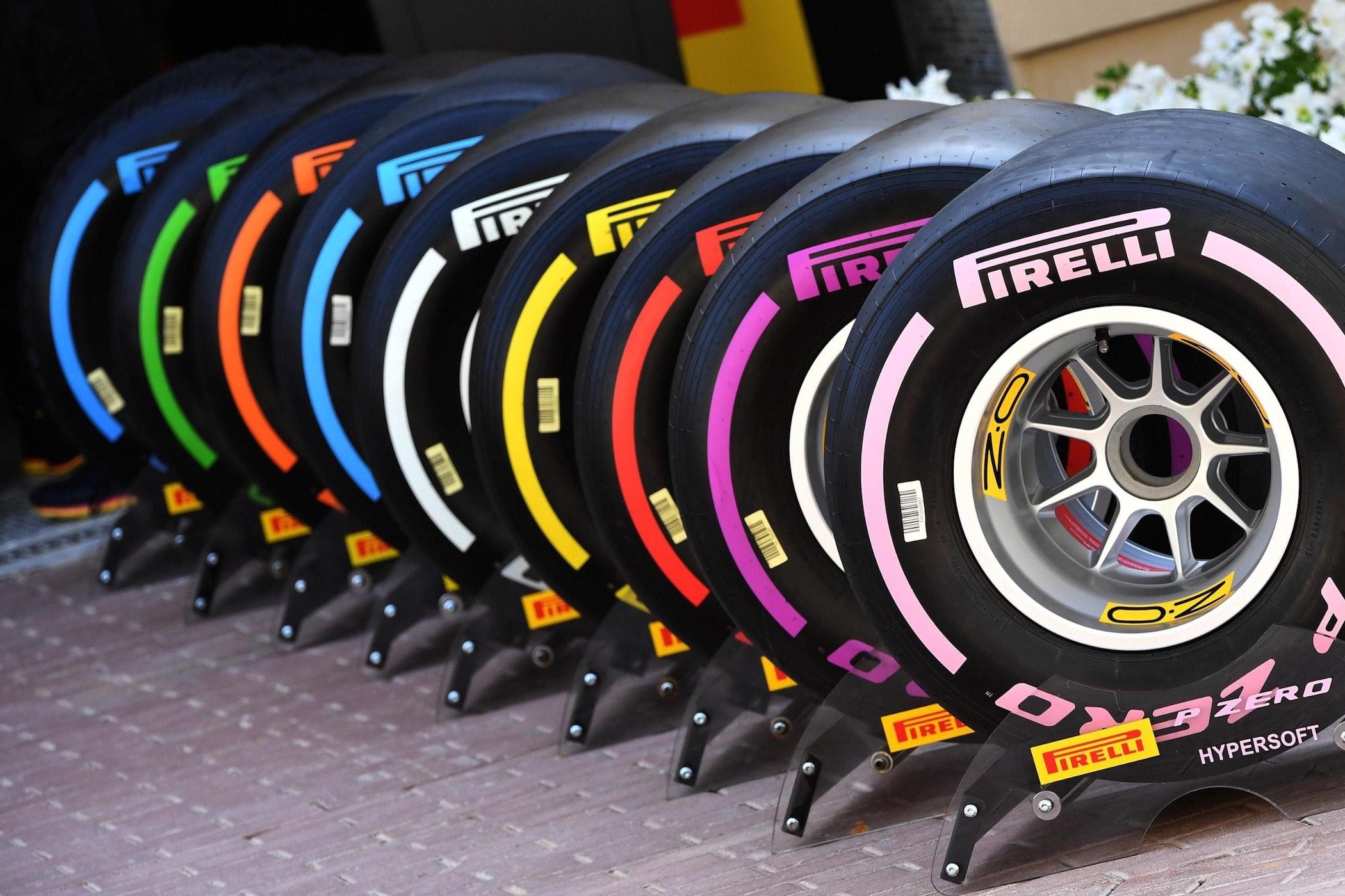 Pirelli F1 Tyres colours 2018