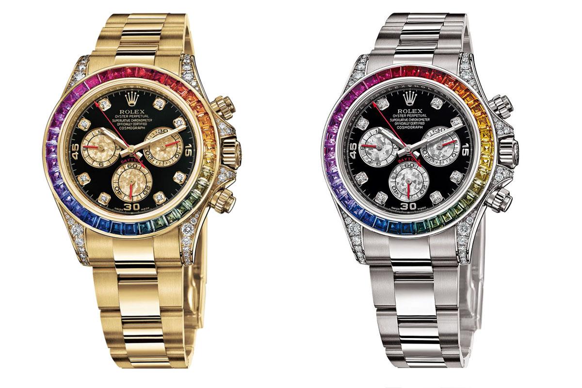 Hands,On , Rolex Daytona Rainbow Everose Gold 116595RBOW