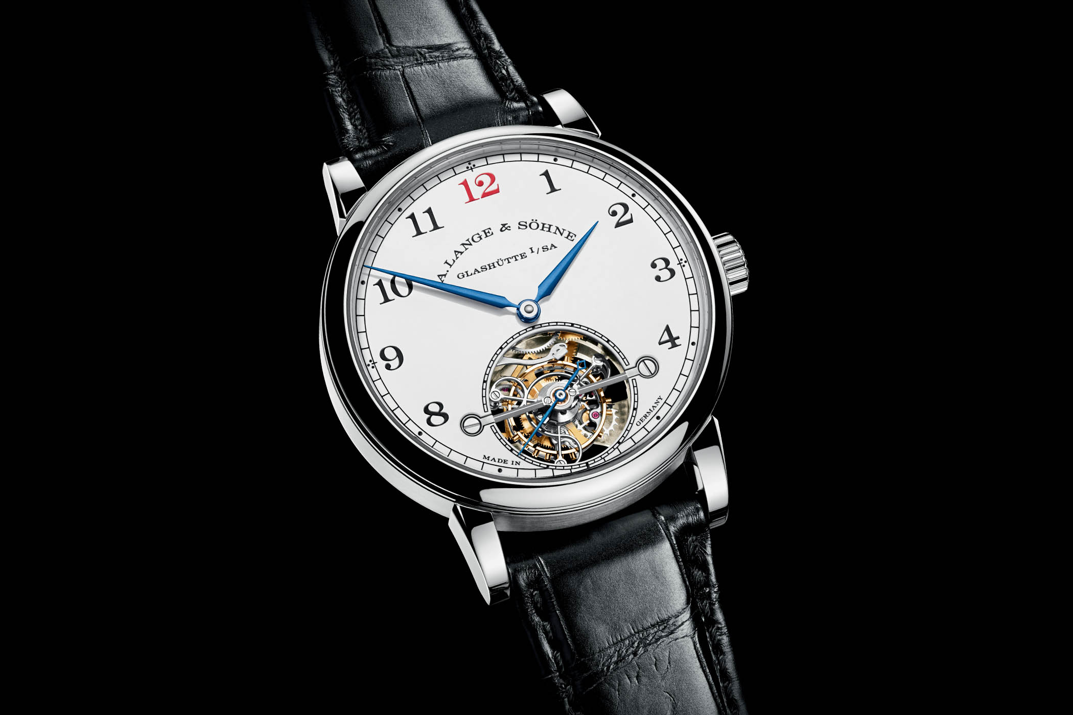 A. Lange & Söhne 1815 Tourbillon White Enamel Dial Platinum case limited edition 730.079F